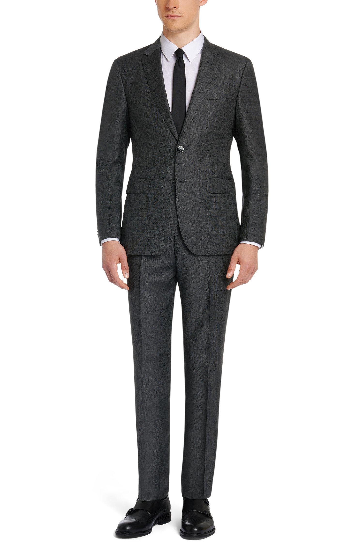 Costume Regular Fit en laine vierge ornée d'un motif finement structuré: «C-Jeys1/C-Shaft1»