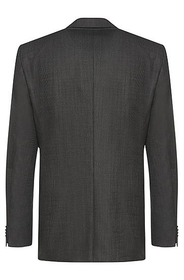 Regular-Fit Anzug aus Schurwolle im fein strukturierten Dessin: 'C-Jeys1/C-Shaft1', Anthrazit