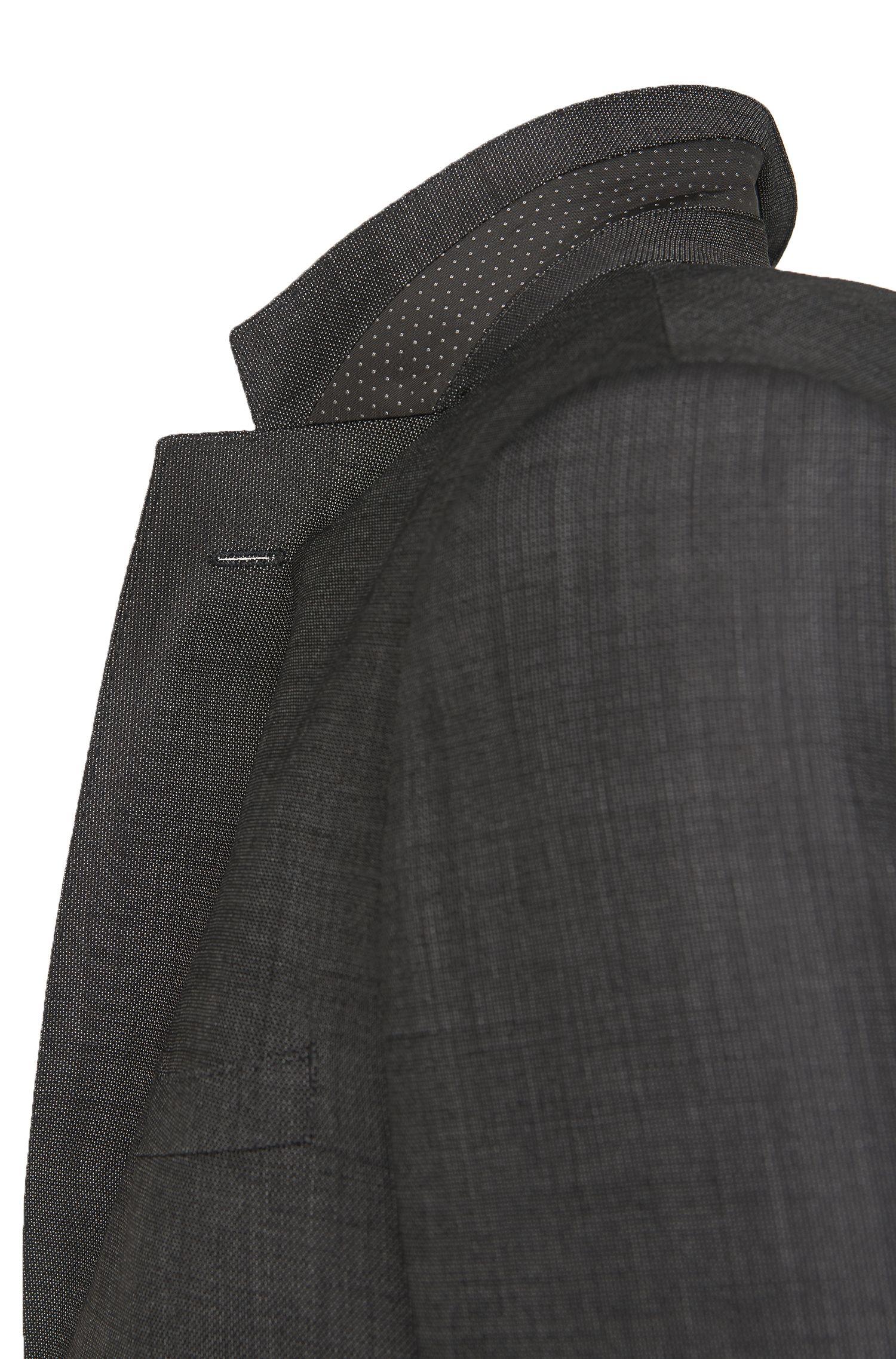 Regular-fit kostuum van scheerwol met fijngestructureerd dessin: 'C-Jeys1/C-Shaft1'