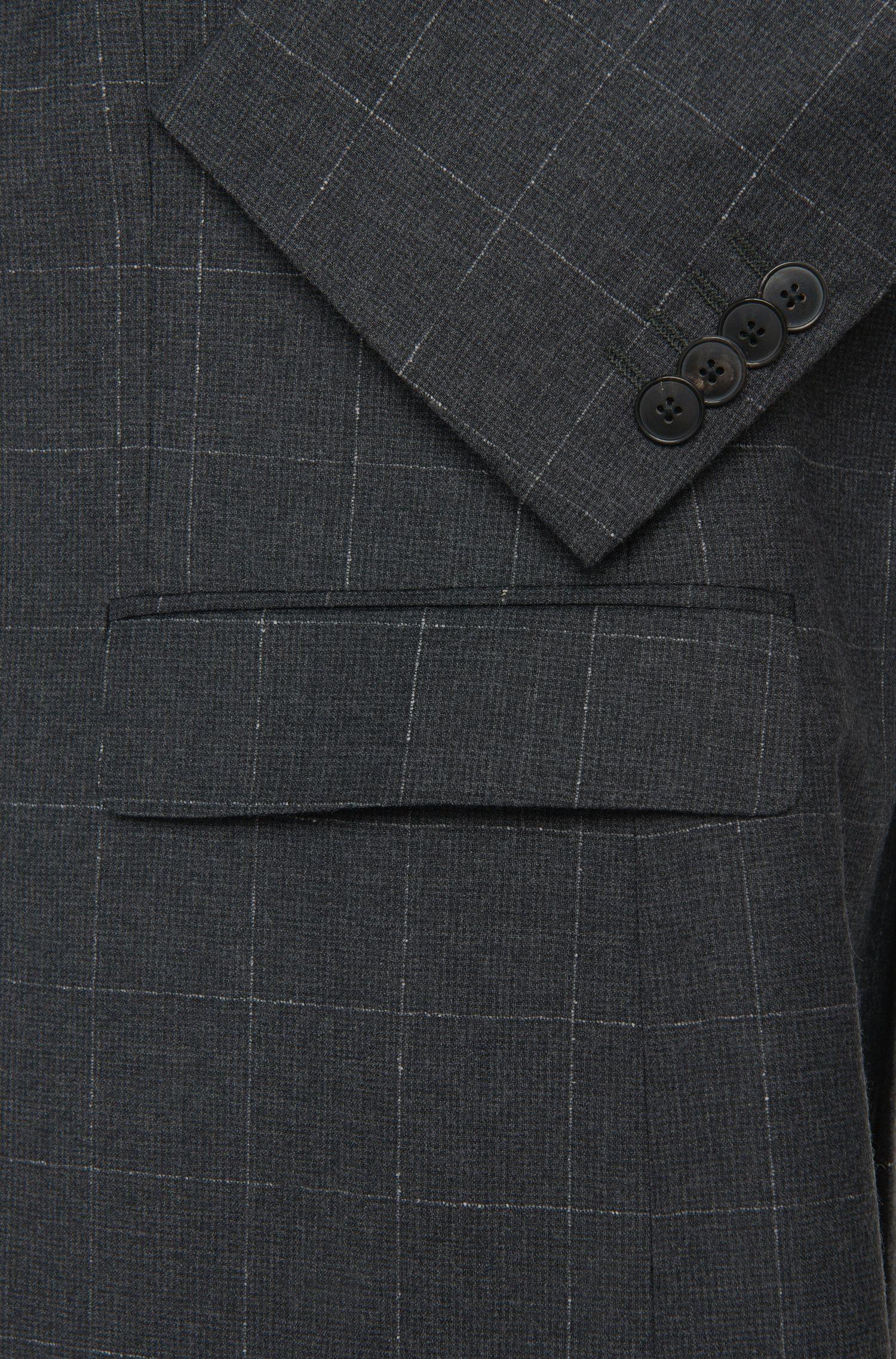 Veste de costume Regular Fit à carreaux en laine vierge: «C-Jefferey»
