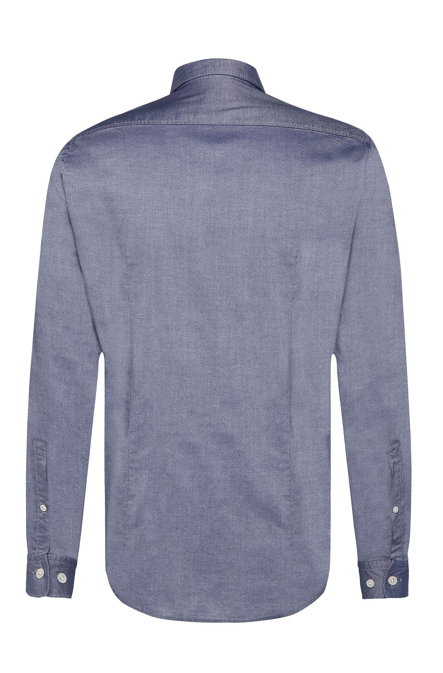 Relaxed-Fit Hemd aus strukturierter Baumwolle: ´C-Lukas`