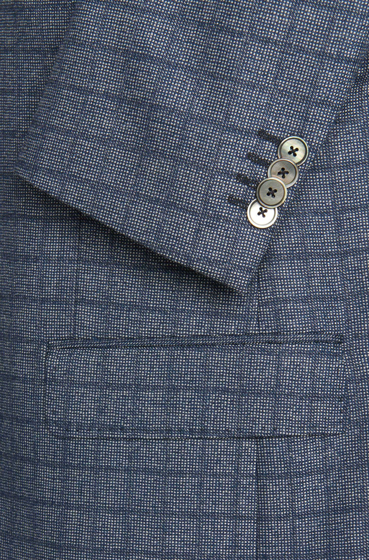 Veste de costume Slim Fit en laine vierge, dotée d'une pochette: «C-Hutsons1»