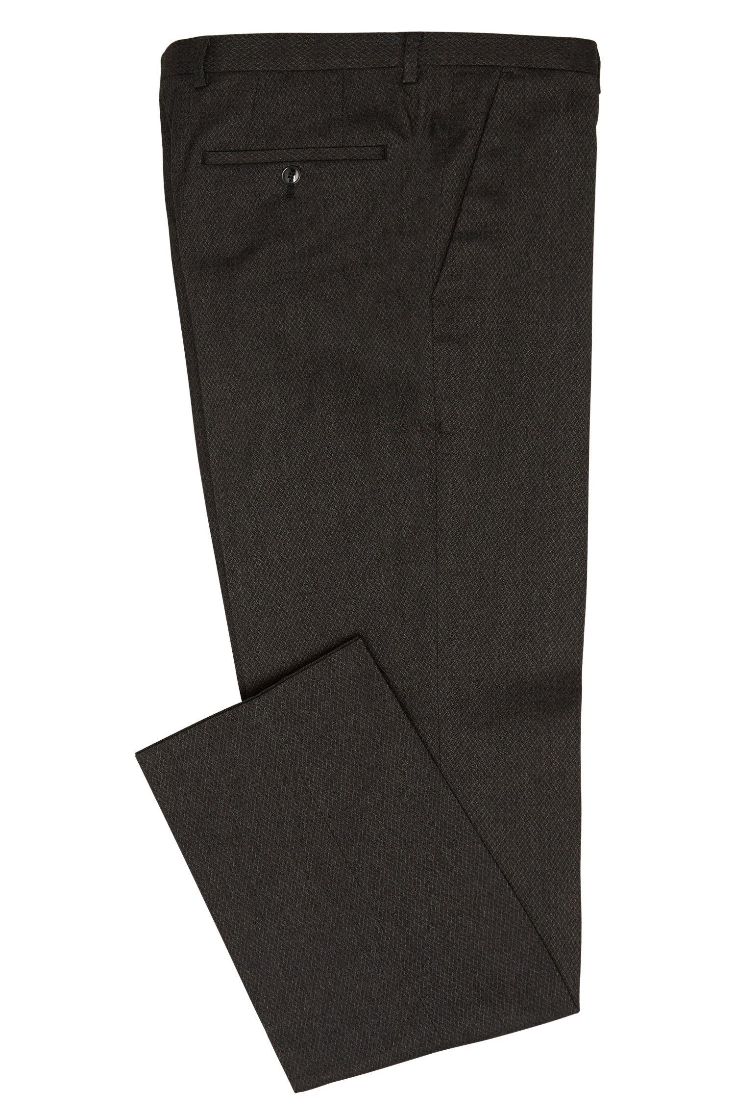 Fein gemusterte Regular-Fit Hose aus elastischem Baumwoll-Mix: 'C-Shark1'