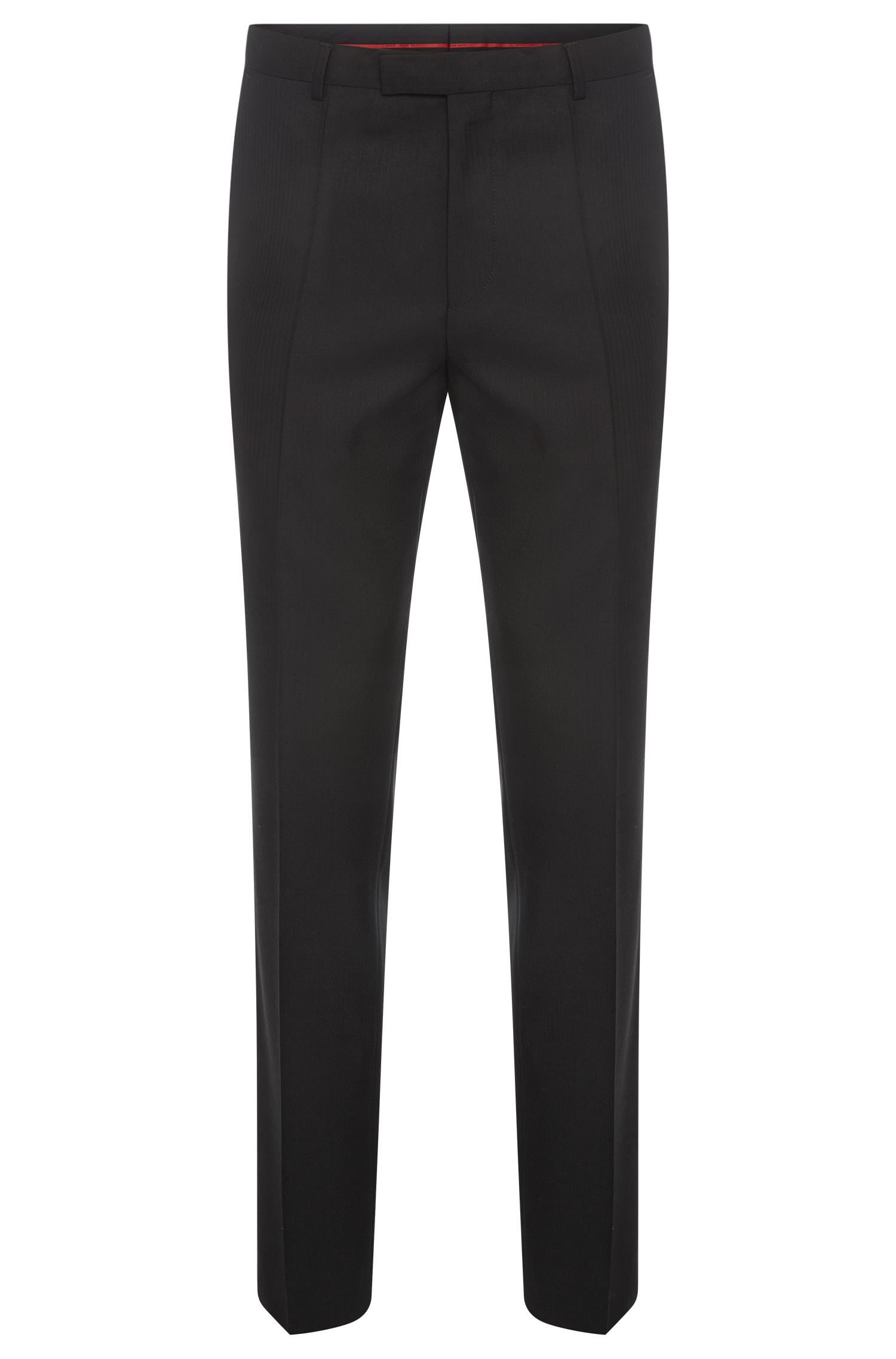 Regular-fit trousers in new wool with herringbone pattern: 'C-Shark1'
