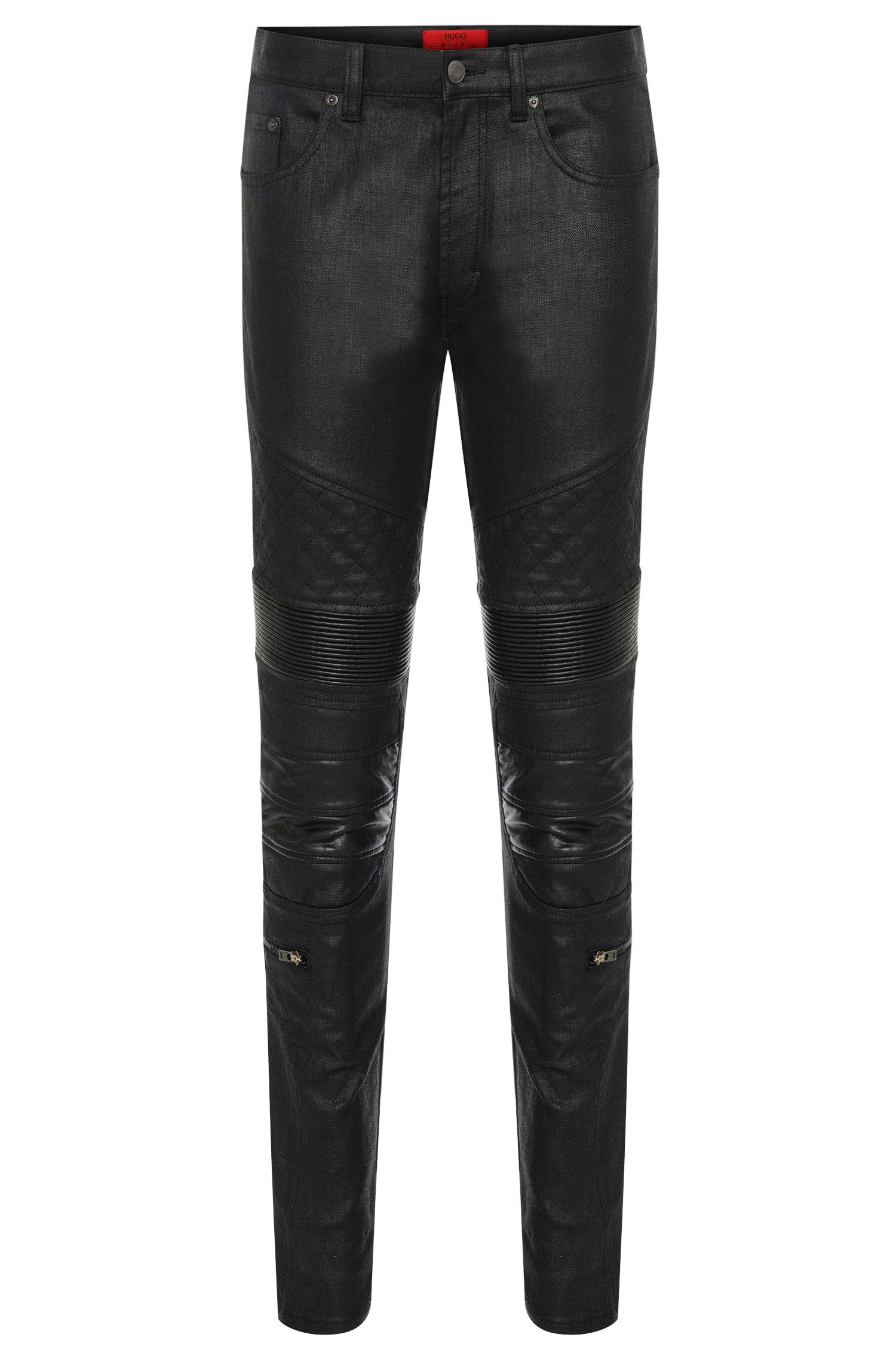 Skinny-fit jeans made from stretch cotton in biker style: 'HUGO 732/33'