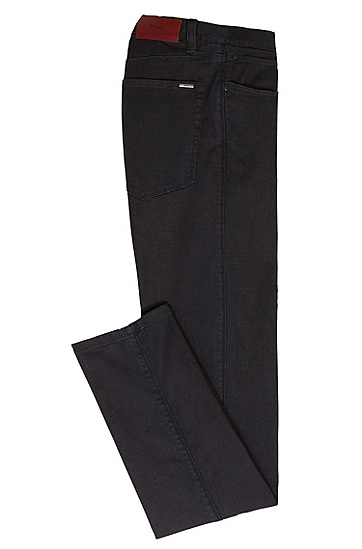 Skinny-Fit Jeans aus Baumwoll-Mix: HUGO 734', Dunkelblau