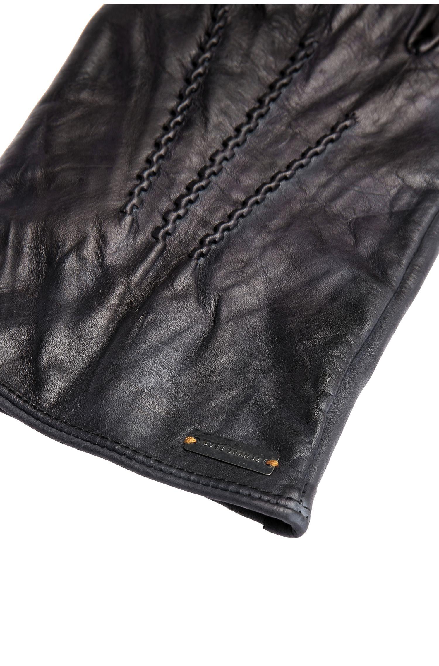 Handschuhe aus Leder mit Ziernähten: ´Gans2`