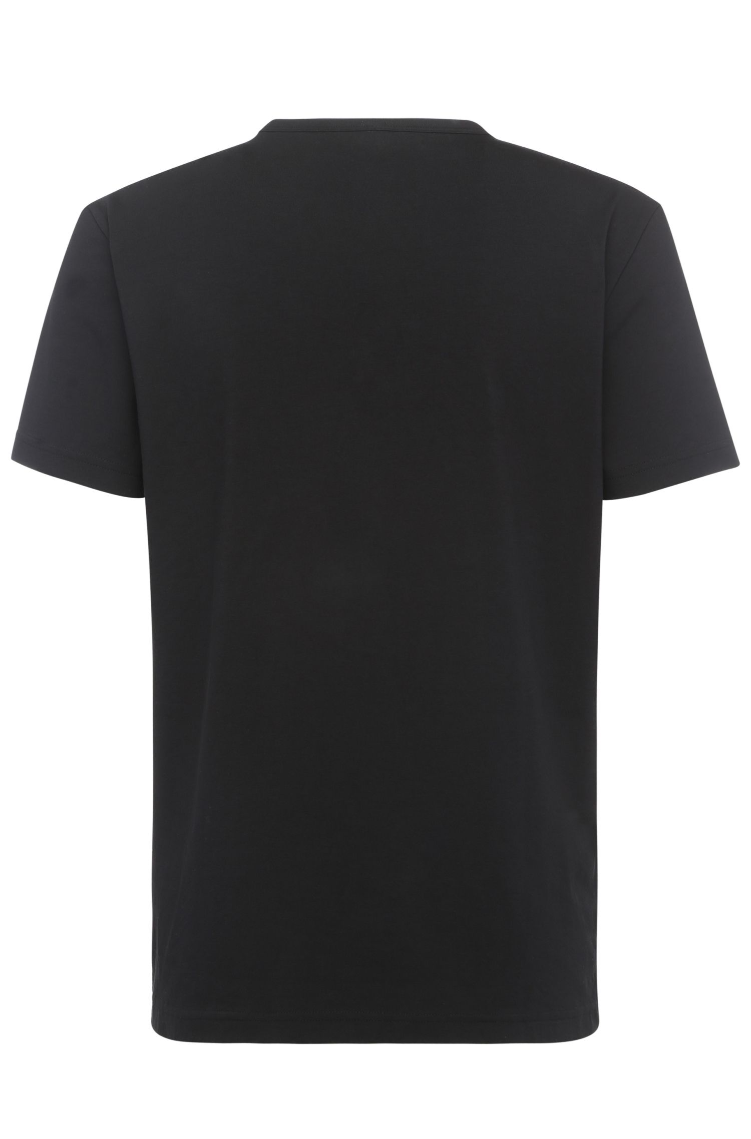 T-shirt à imprimé Regular Fit en coton stretch: «Tee10»