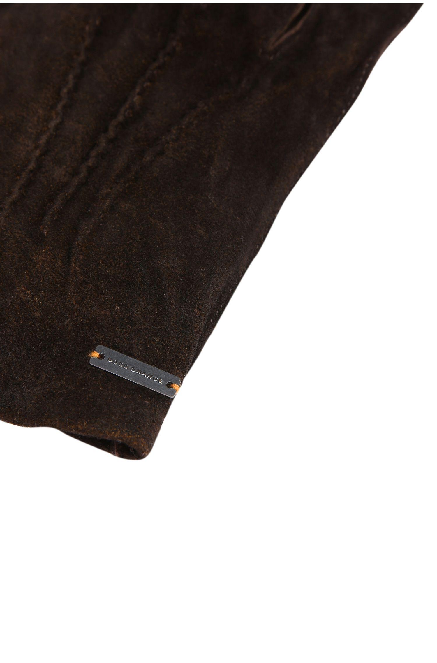 Handschoenen van opgeruwd leer: 'Gilderoy'