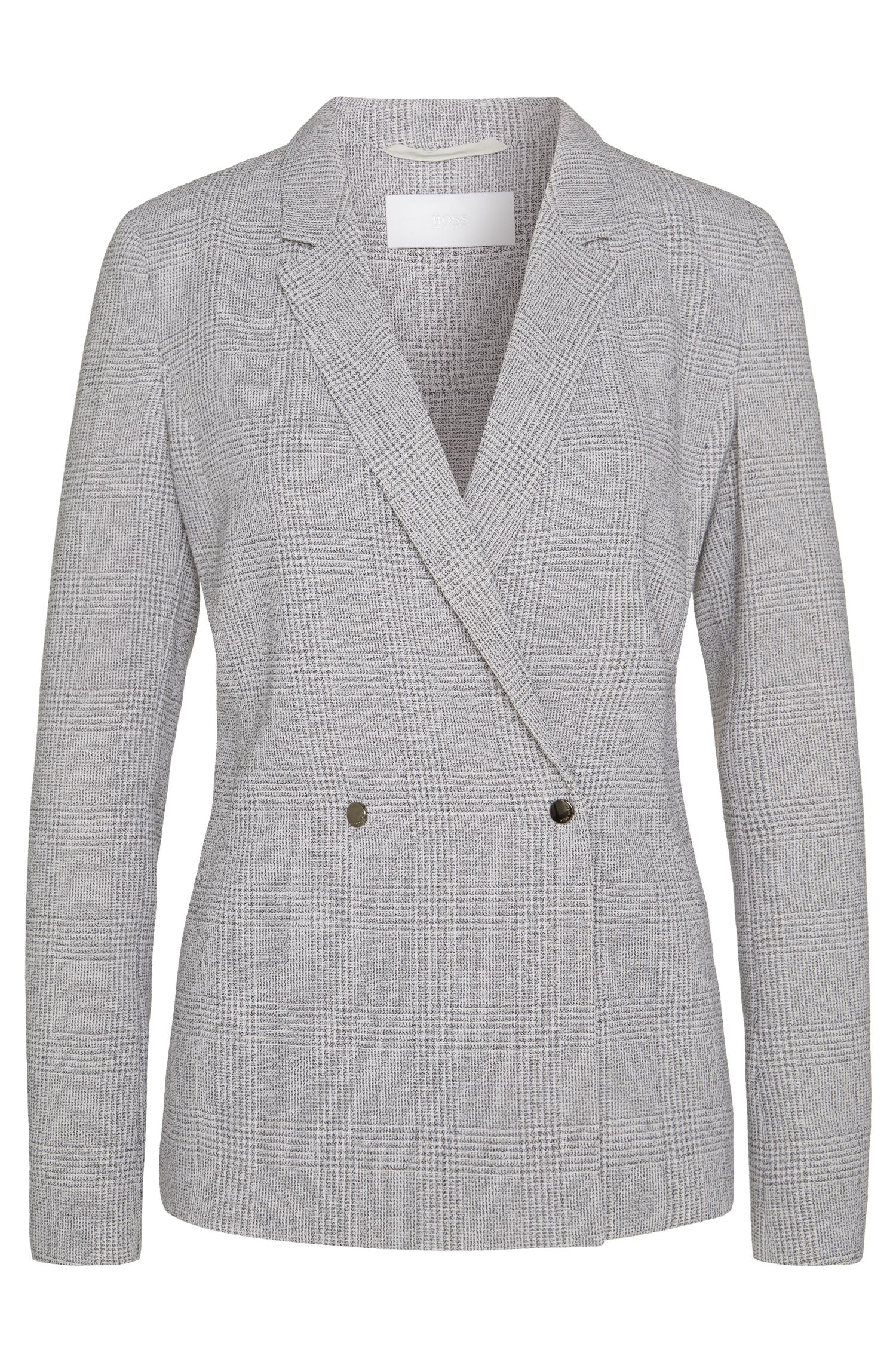 Blazer in new wool with Glencheck pattern: 'Jaftina'