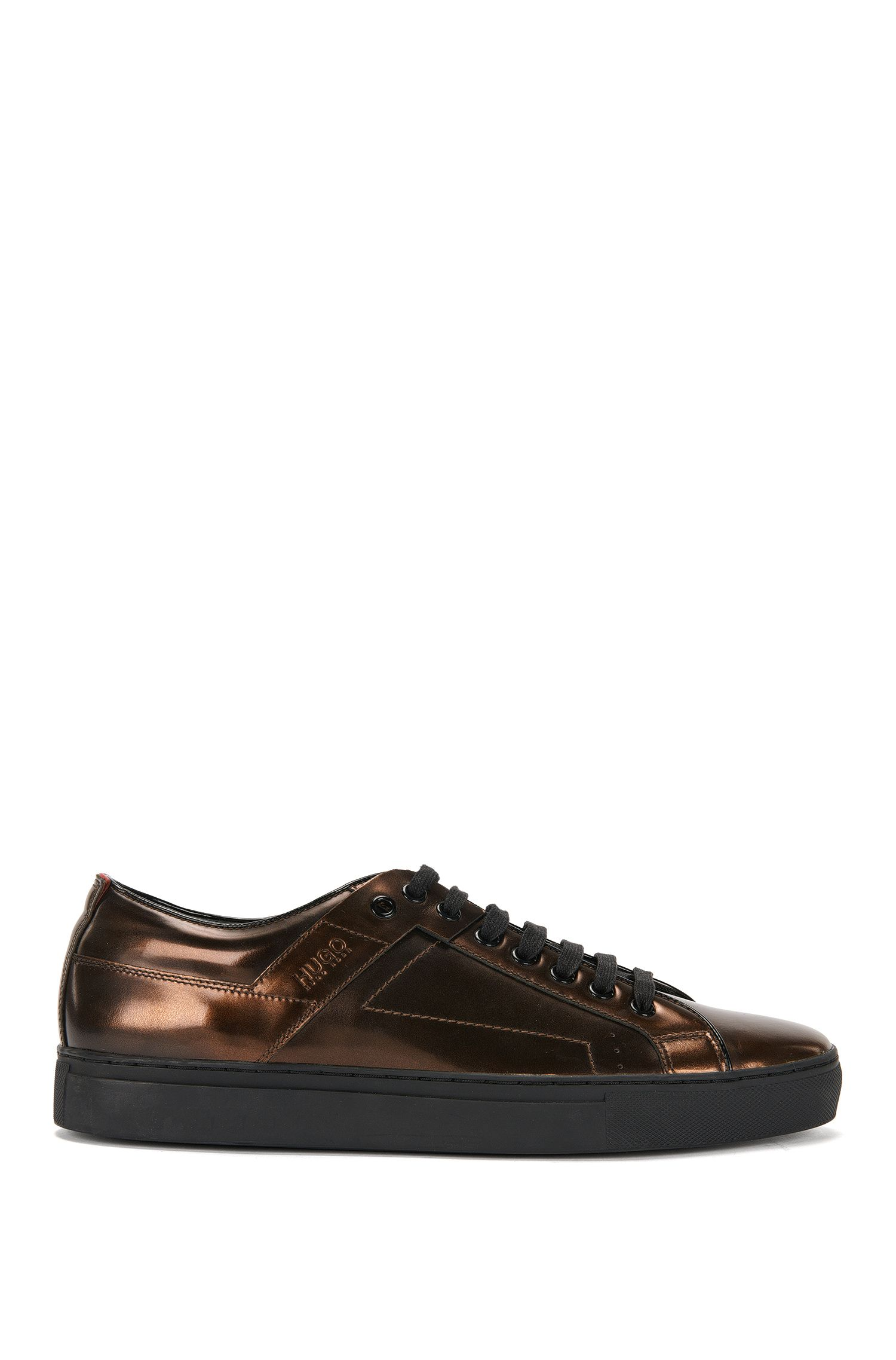 Leather trainers in metallic look: 'Futurism_Tenn_ltmt'