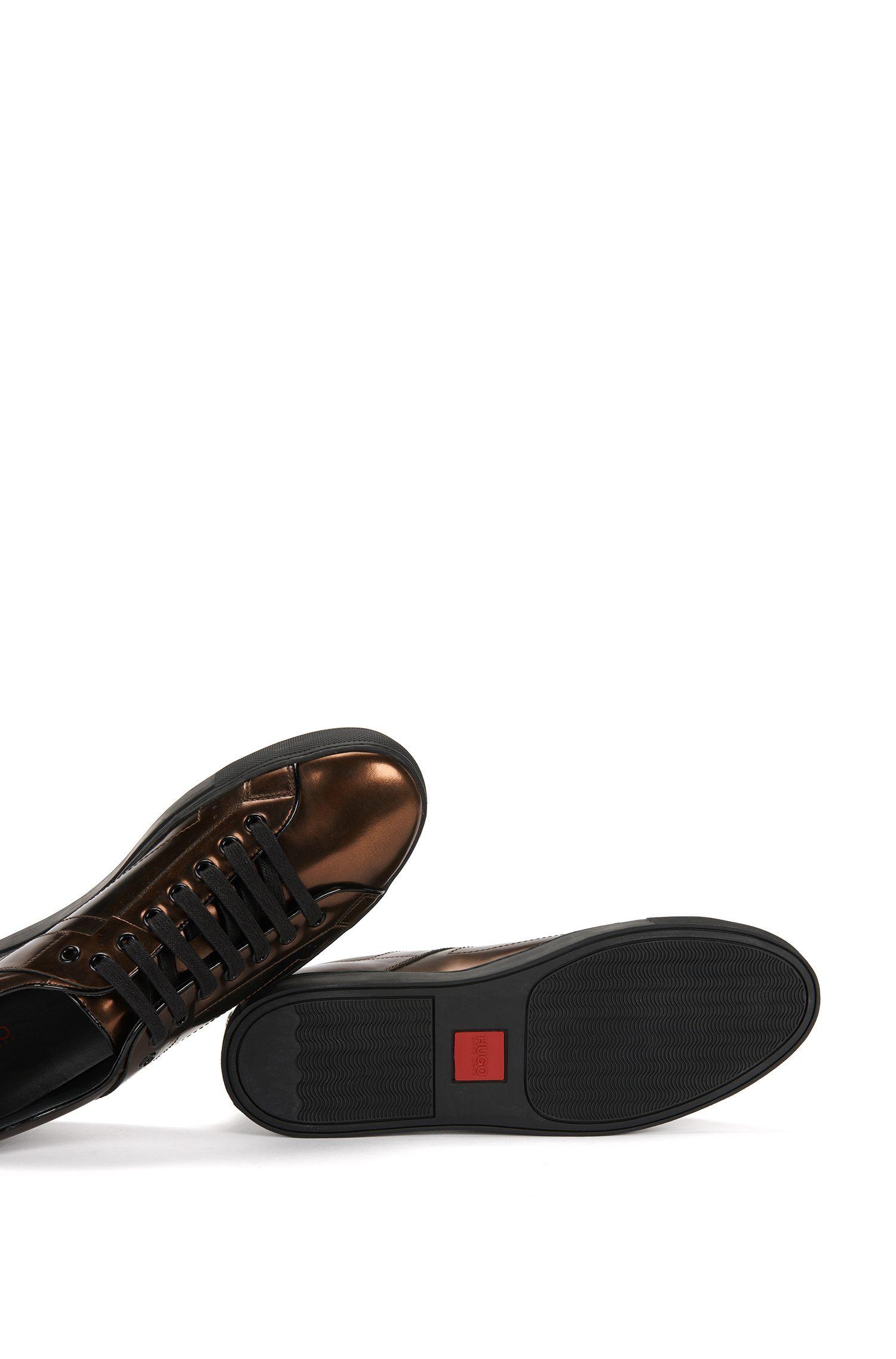 Sneakers aus Leder in Metallic-Optik: 'Futurism_Tenn_ltmt'