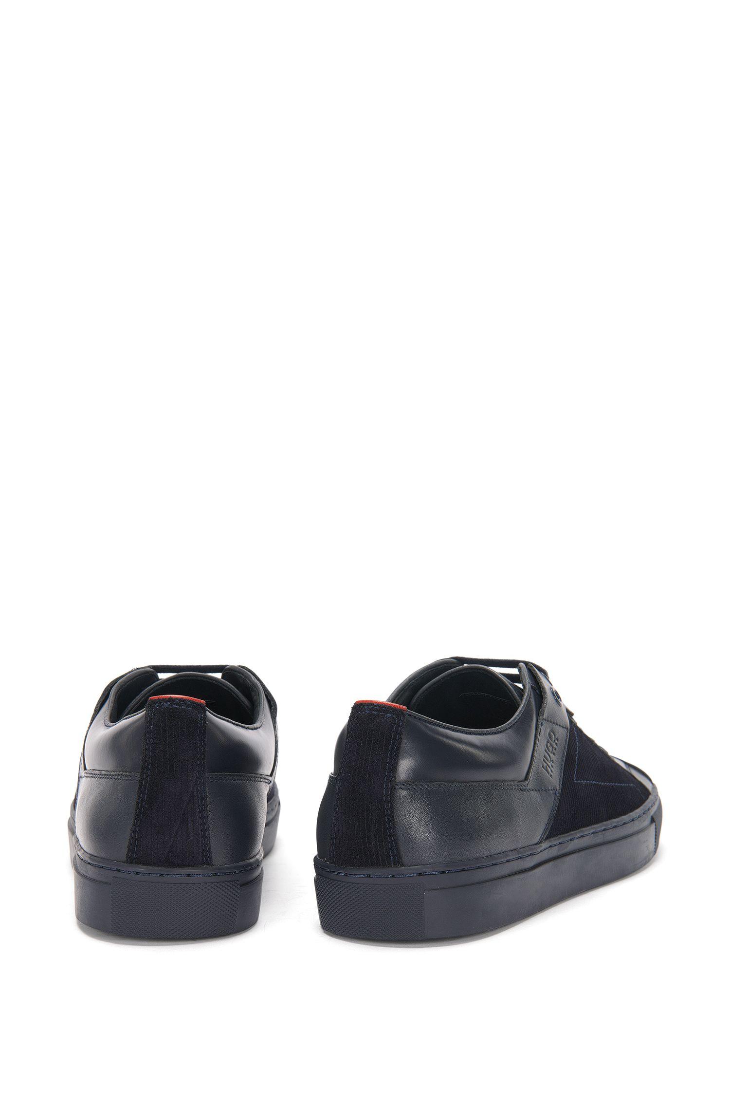 Sneakers aus Leder mit Samtdruck: 'Futurism_Tenn_mxpr'