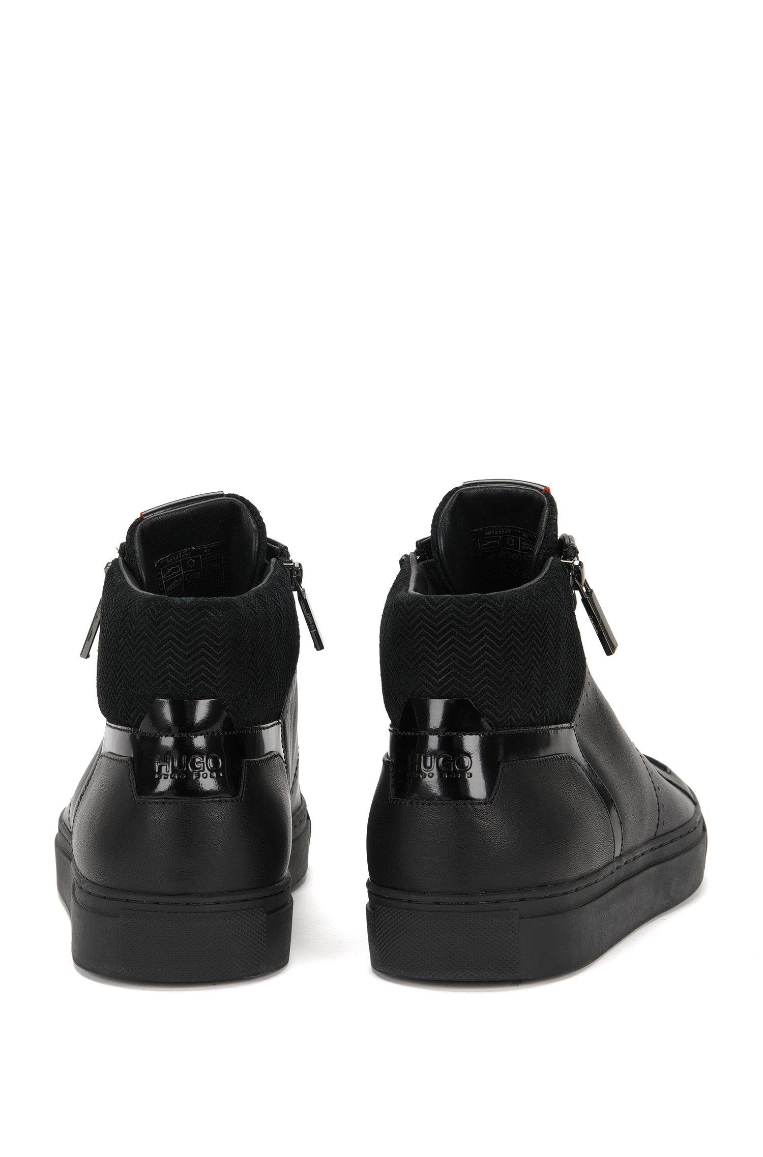 Sneakers aus Leder im Struktur-Mix: 'Futurism_Midc_ltzp'