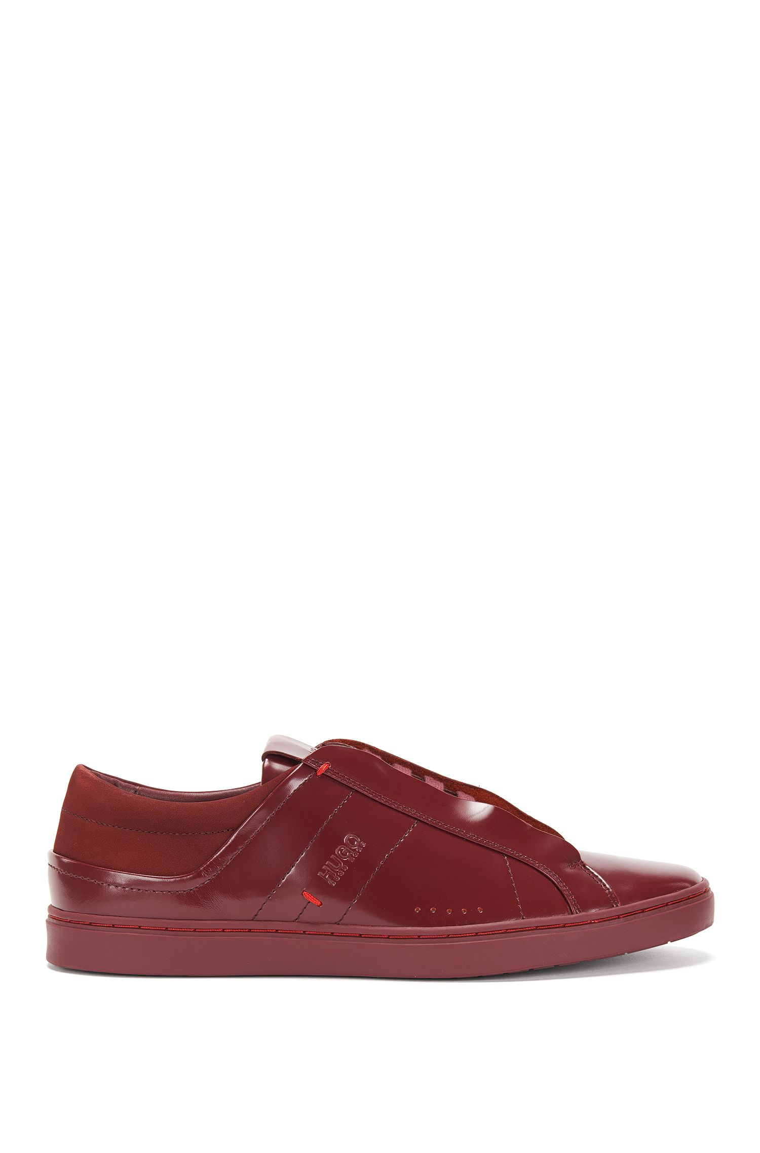 Leather trainers with concealed eyelets: 'Post_Tenn_bo'
