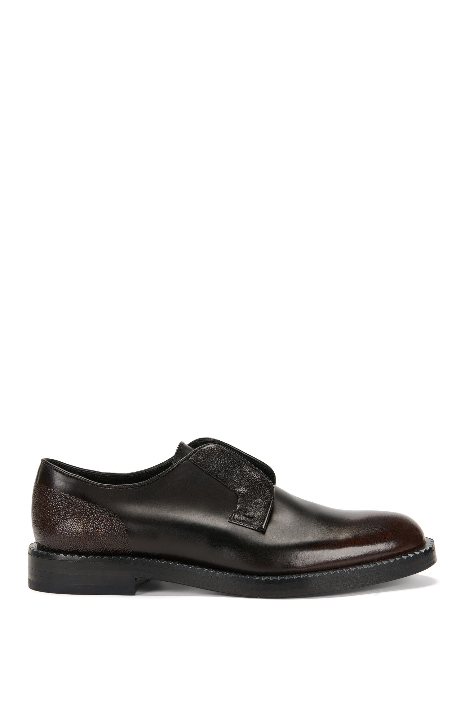 Leather lace-up shoes with scotchgrain detailing: 'Mono_Derb_mx'