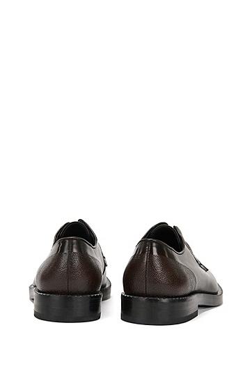 Schnürschuhe aus Leder mit Scotchgrain-Detail: 'Mono_Derb_mx', Braun