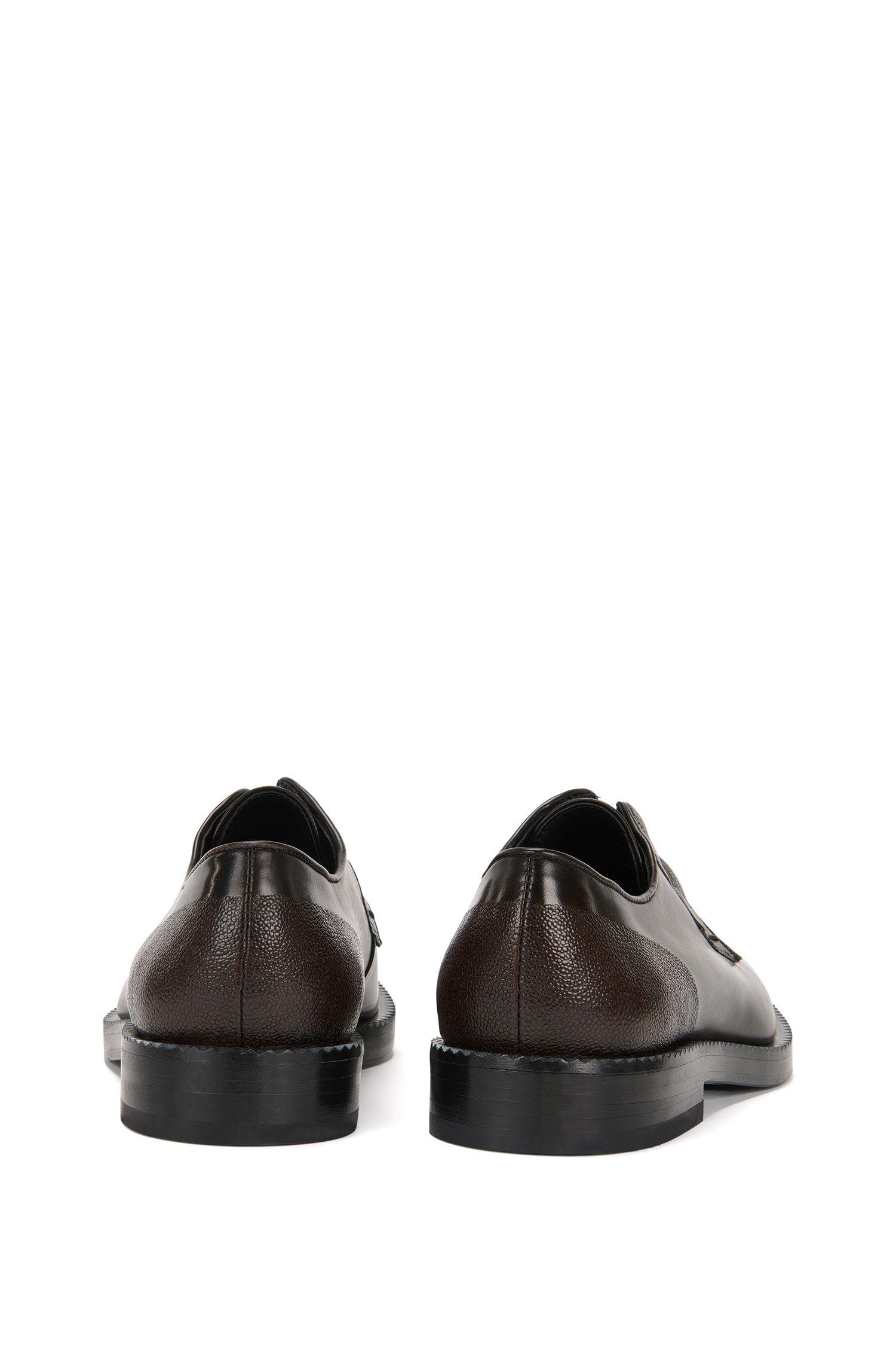 Chaussures à lacets en cuir avec détail en cuir grené Scotchgrain: «Mono_Derb_mx»