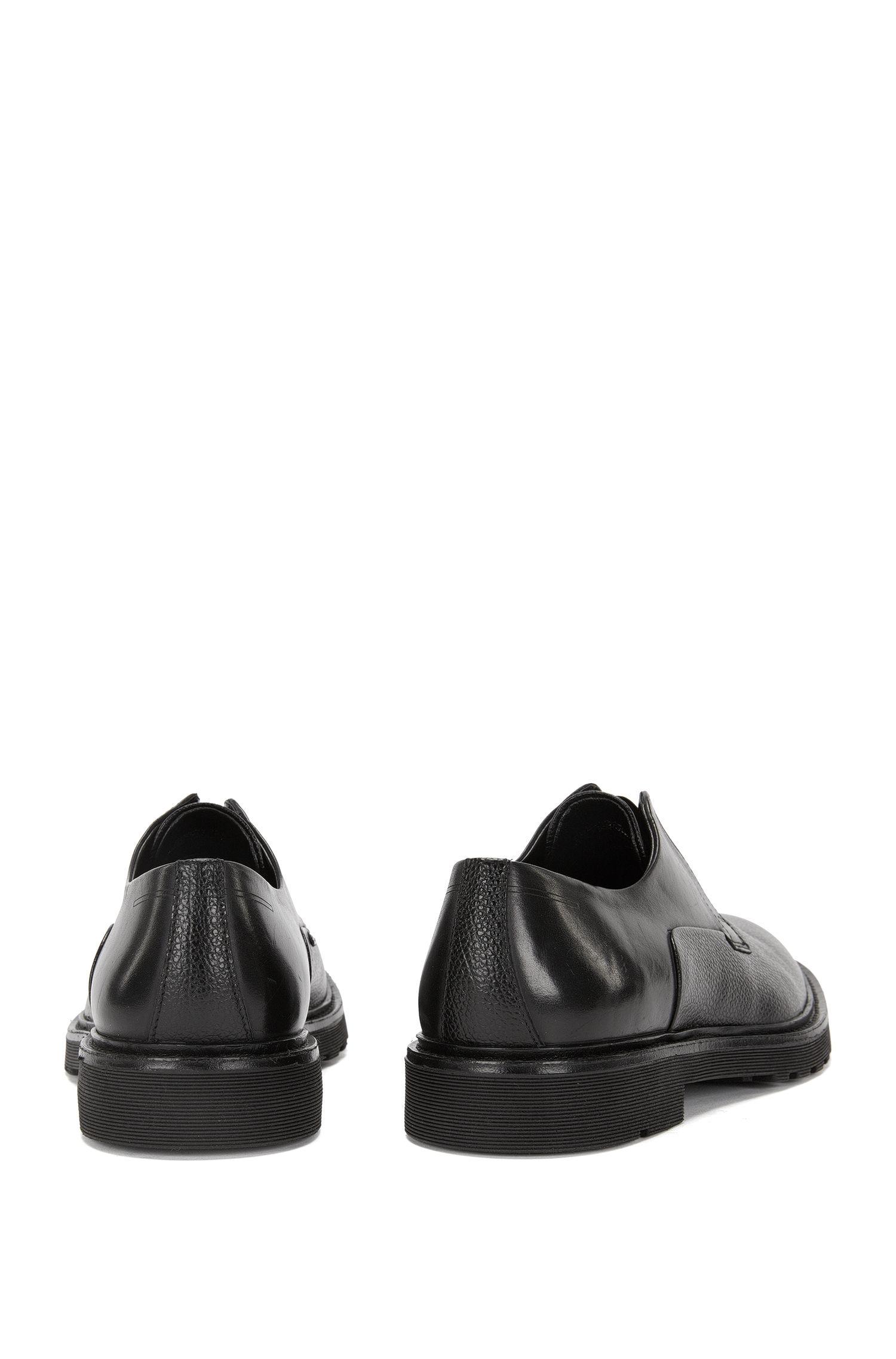 Slipper aus Leder mit Elastikeinsatz: 'Pure_Slon_plgr'