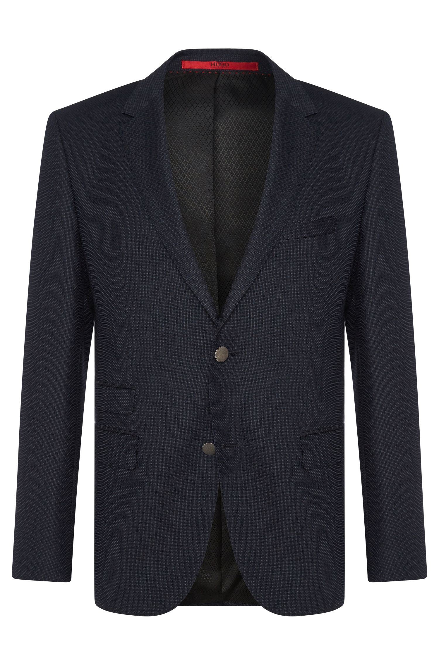 Regular-fit jacket in new wool with textured pattern: 'C-Jeet'