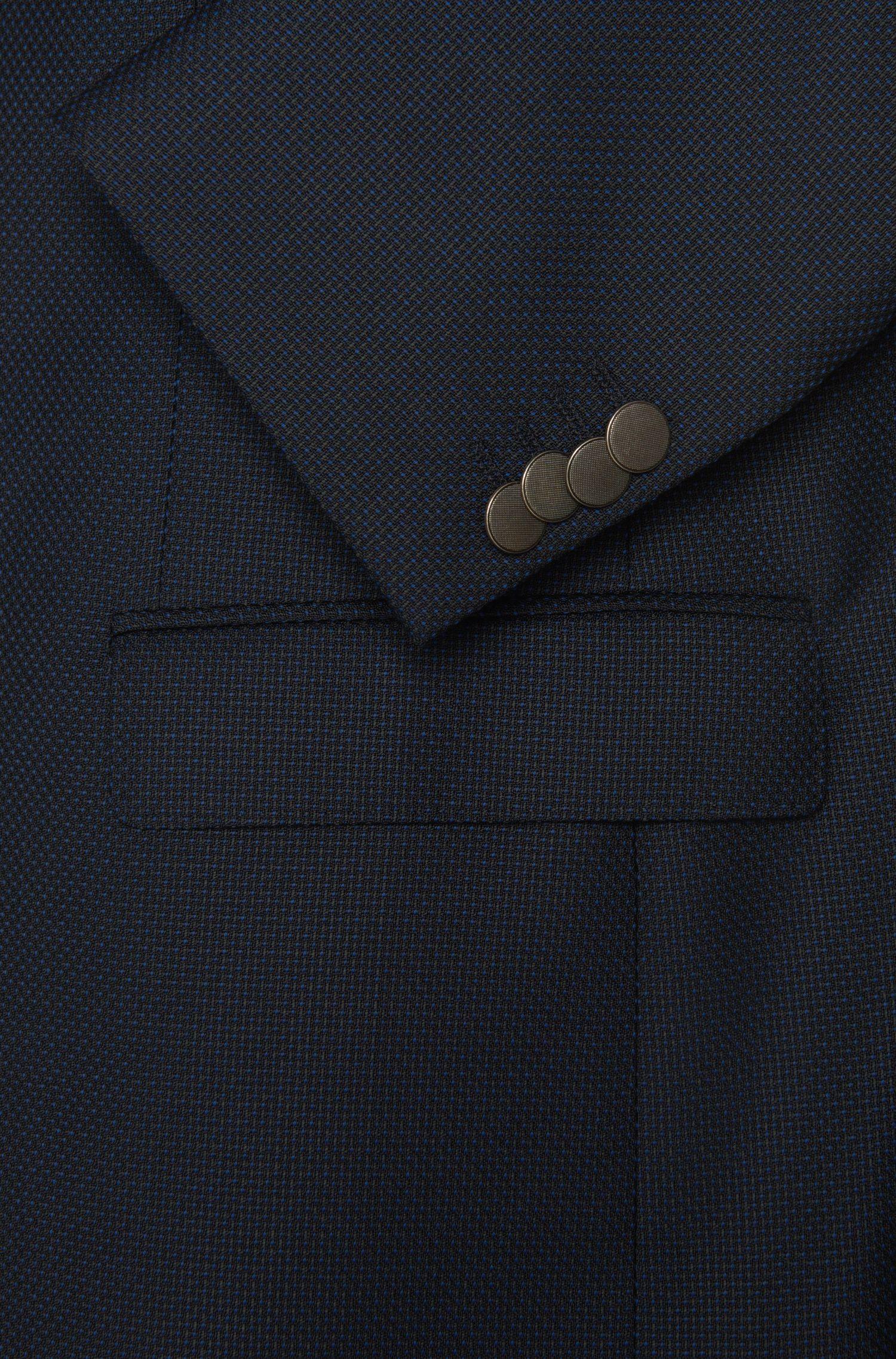 Regular-Fit Sakko aus Schurwolle mit Strukturmuster: ' C-Jeet'
