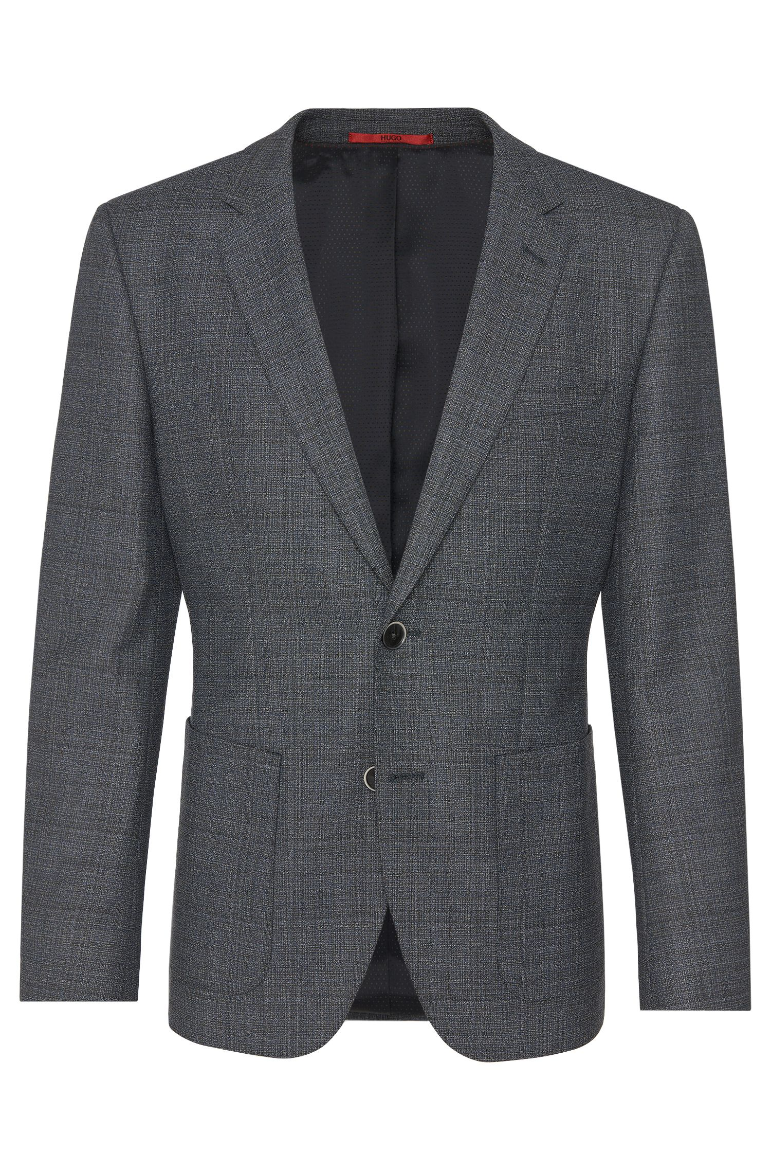 Regular-fit jacket in new-wool blend with patch slash pockets: 'C-Jario'