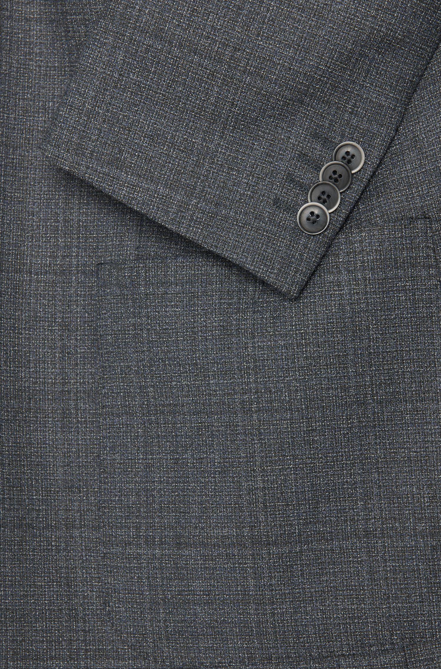 Veste de costume Regular Fit en laine vierge mélangée dotée de poches latérales plaquées: «C-Jario»
