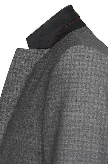 Gemustertes Regular-Fit Sakko aus Schurwolle: 'C-Jeffery', Grau