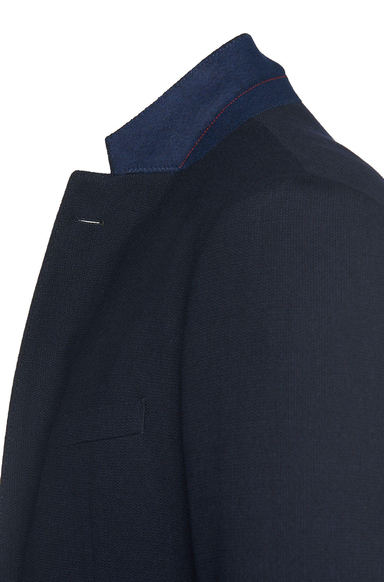 Regular-Fit Sakko aus Stretch-Schurwolle mit aufgesetzten Taschen: 'C-Jario'