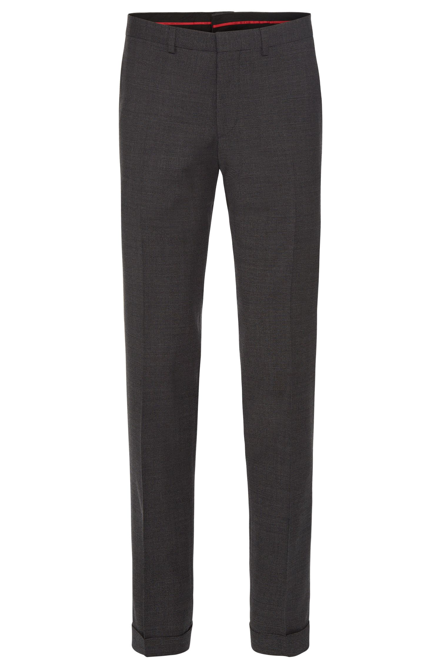 Pantalon Extra Slim Fit en laine vierge stretch : « C-Wyn »