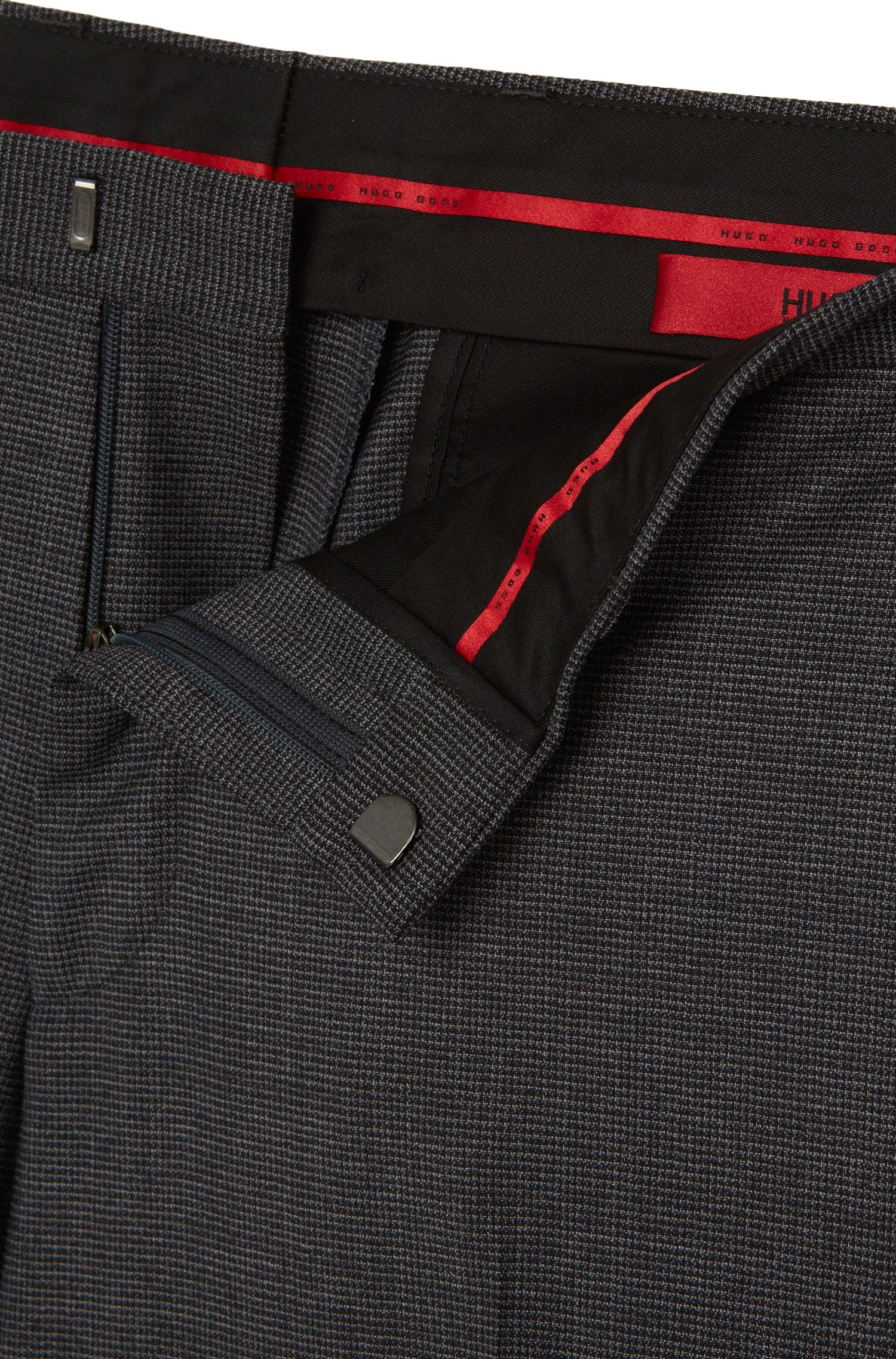 Extra slim-fit broek van stretchscheerwol: 'C-Wyn'