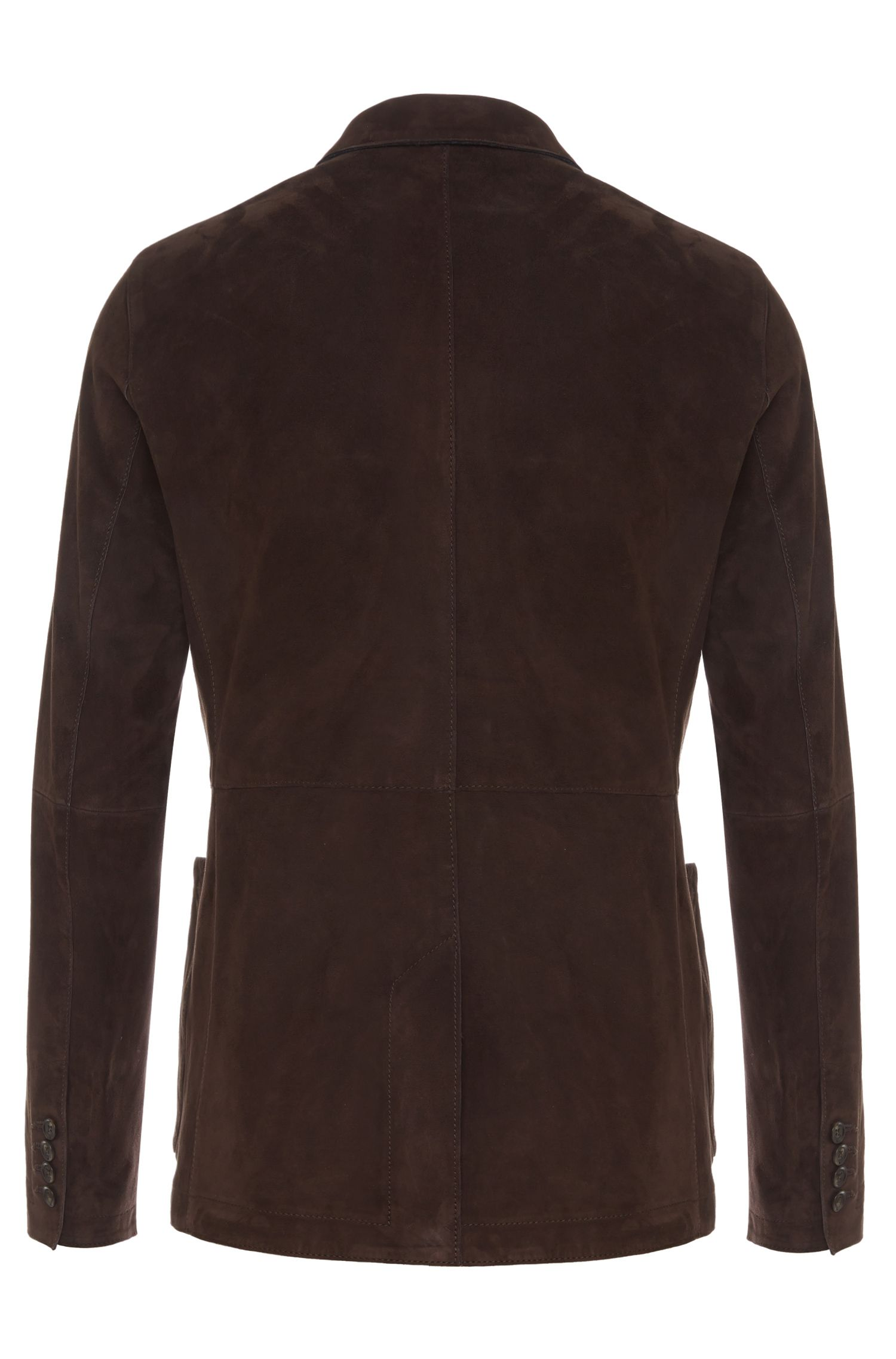 Veste de costume en cuir Regular Fit dotée de poches plaquées: «Navtiso»