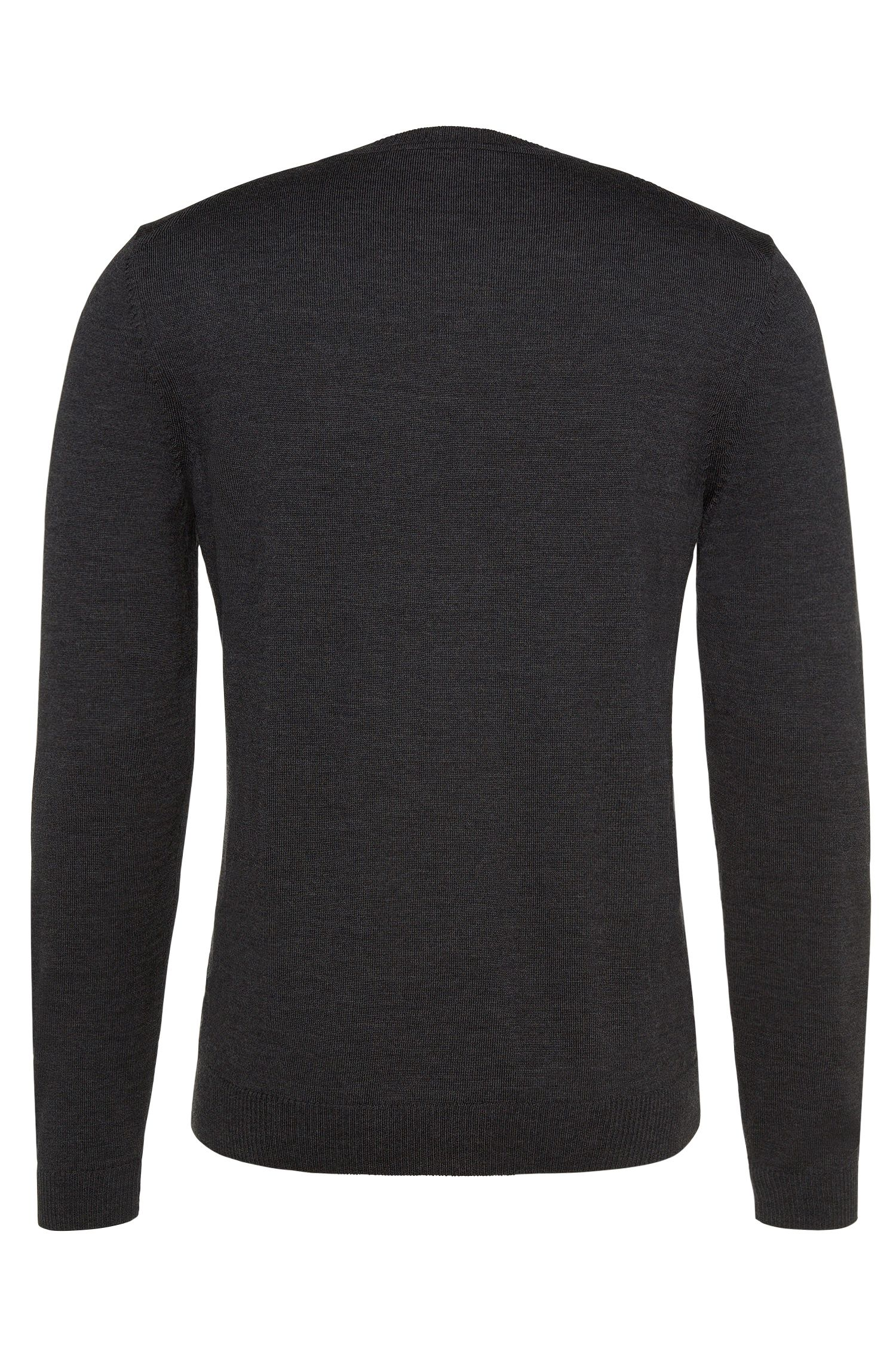 Regular-Fit Pullover aus Schurwolle in Feinstrick-Qualität: 'Bagritte-B'
