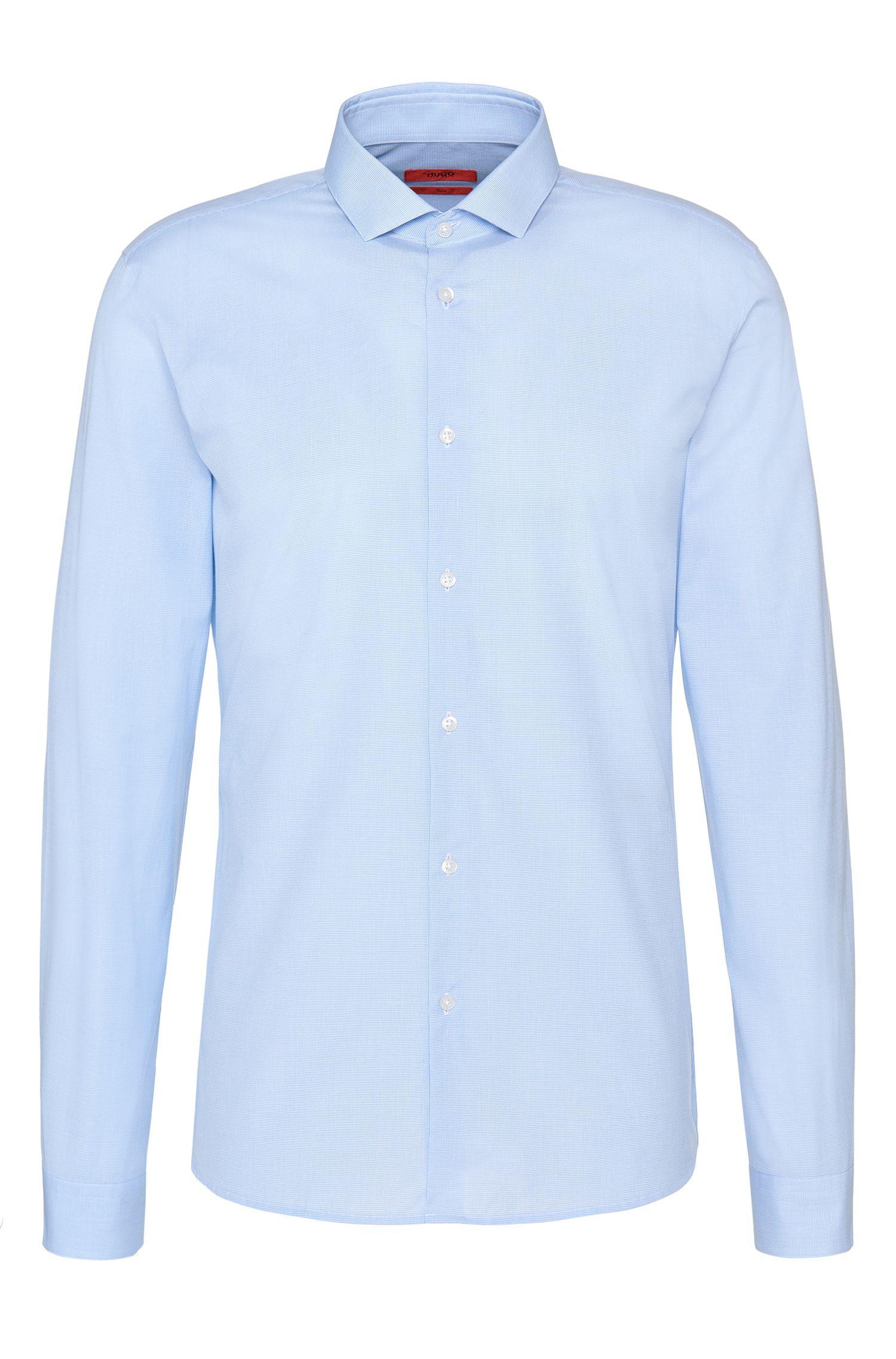 Slim-fit overhemd van katoen met een fijn dessin: 'Erondo'