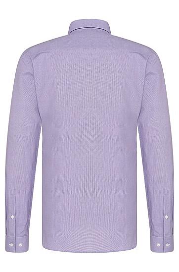 Fein gemustertes Slim-Fit Hemd aus Baumwolle: 'Erondo', Dunkel Lila