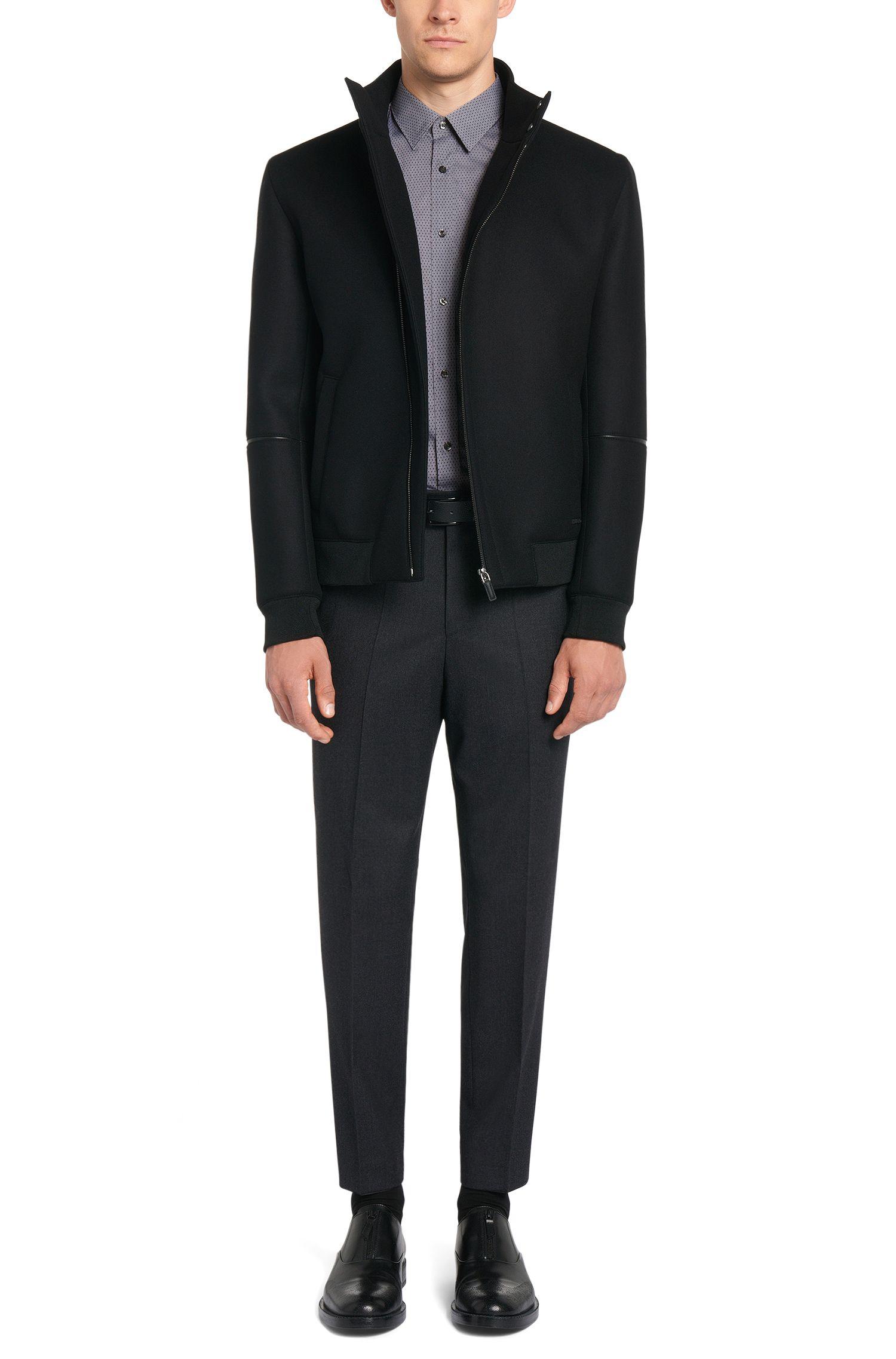 Chemise Slim Fit en coton avec motif à losanges bicolore: «Elisha01»