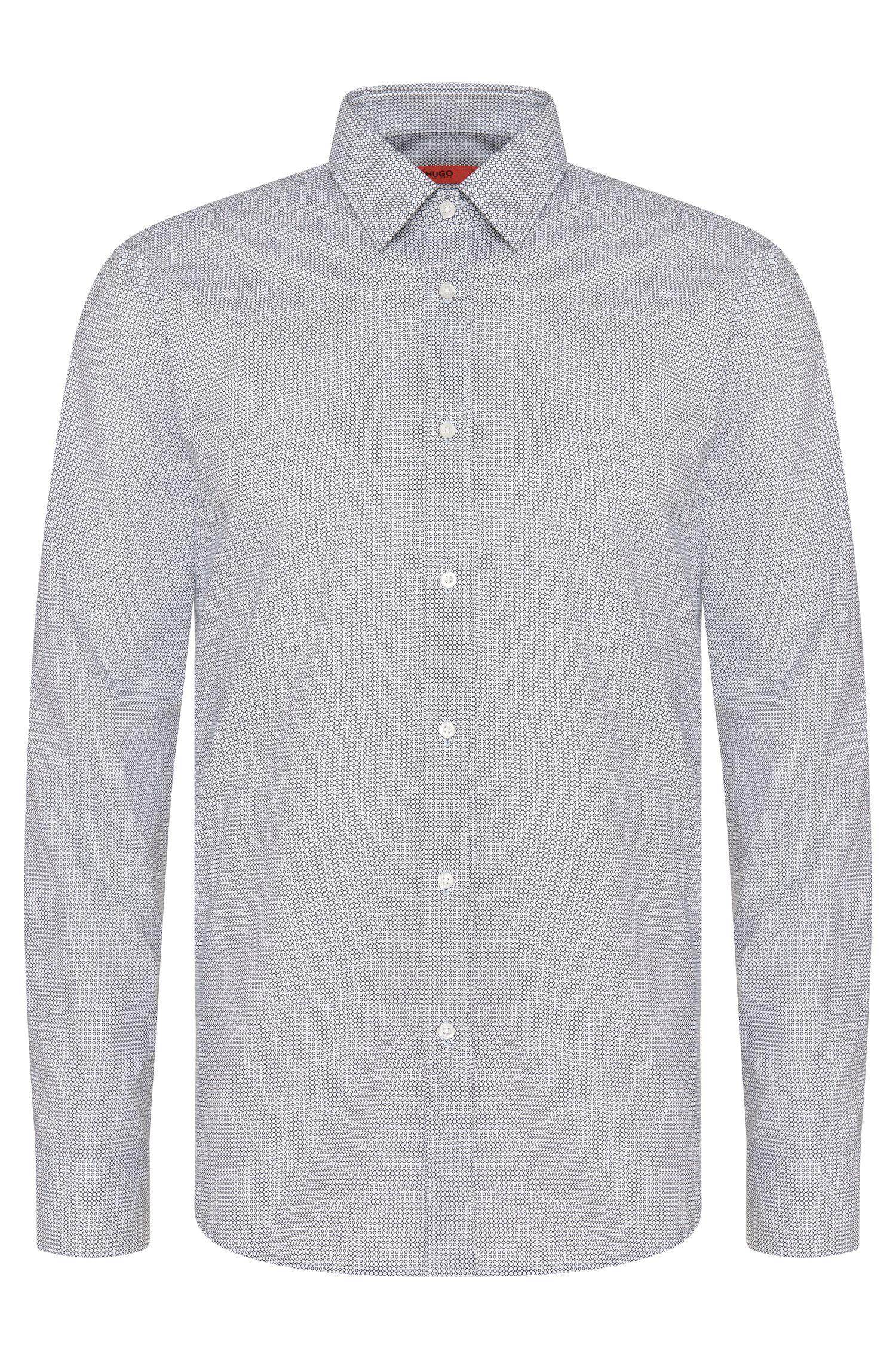 Camisa slim fit estampada en algodón: 'Elisha01'