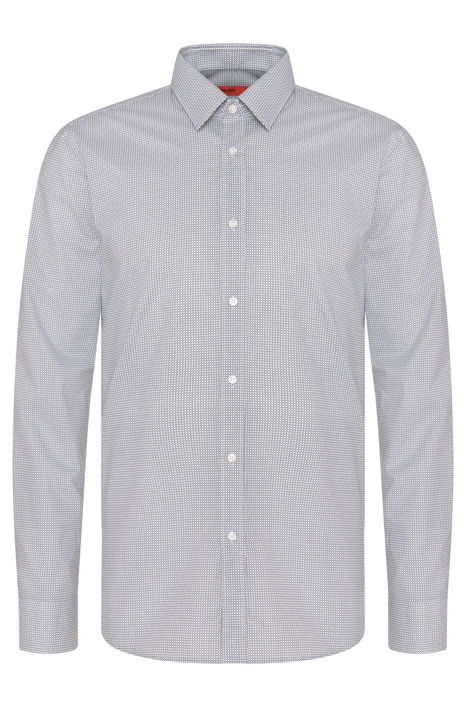Gemustertes Slim-Fit Hemd aus Baumwolle: 'Elisha01'