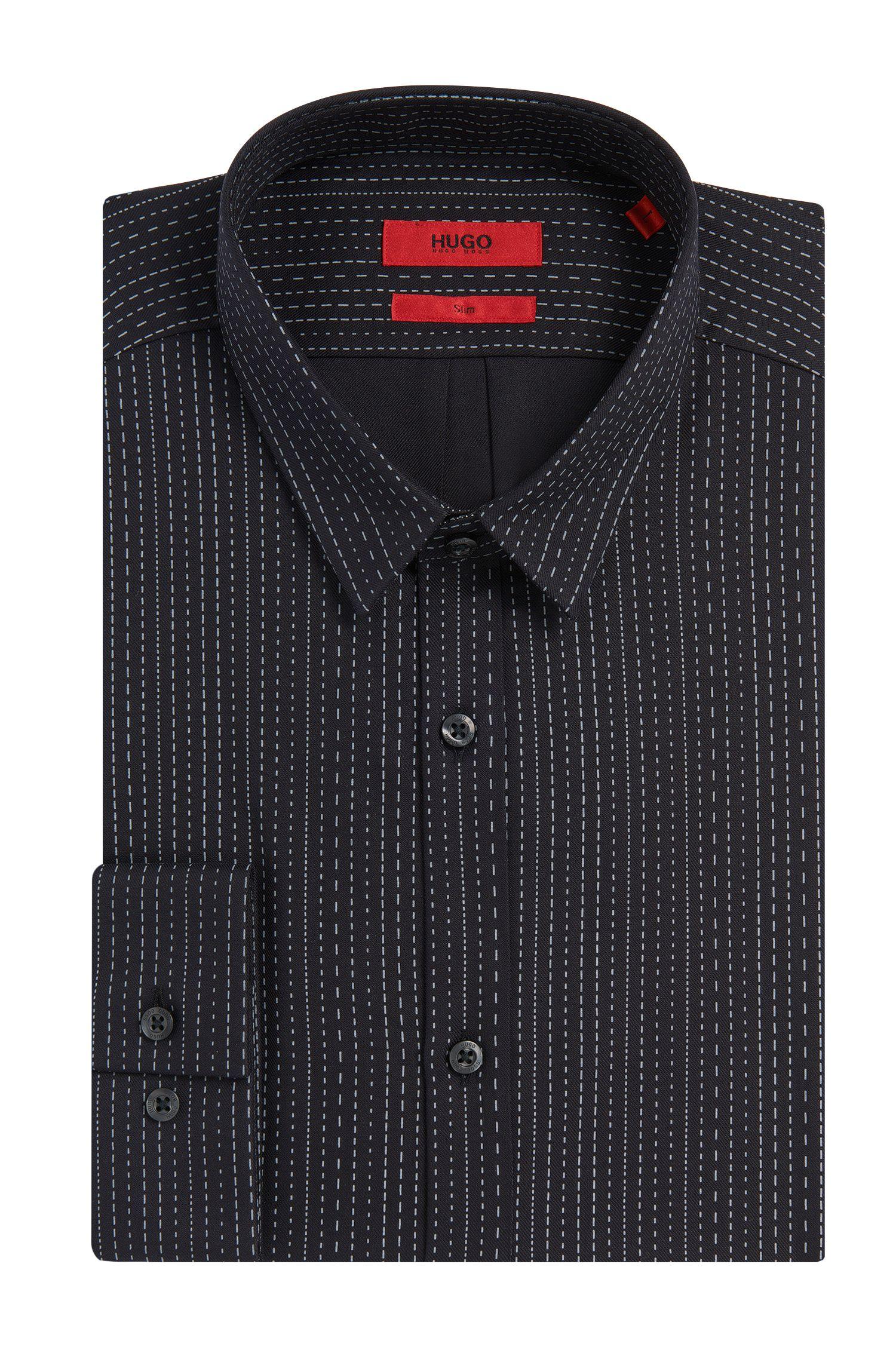 Slim-Fit Hemd aus Baumwolle mit Streifen-Muster: 'Ero3'