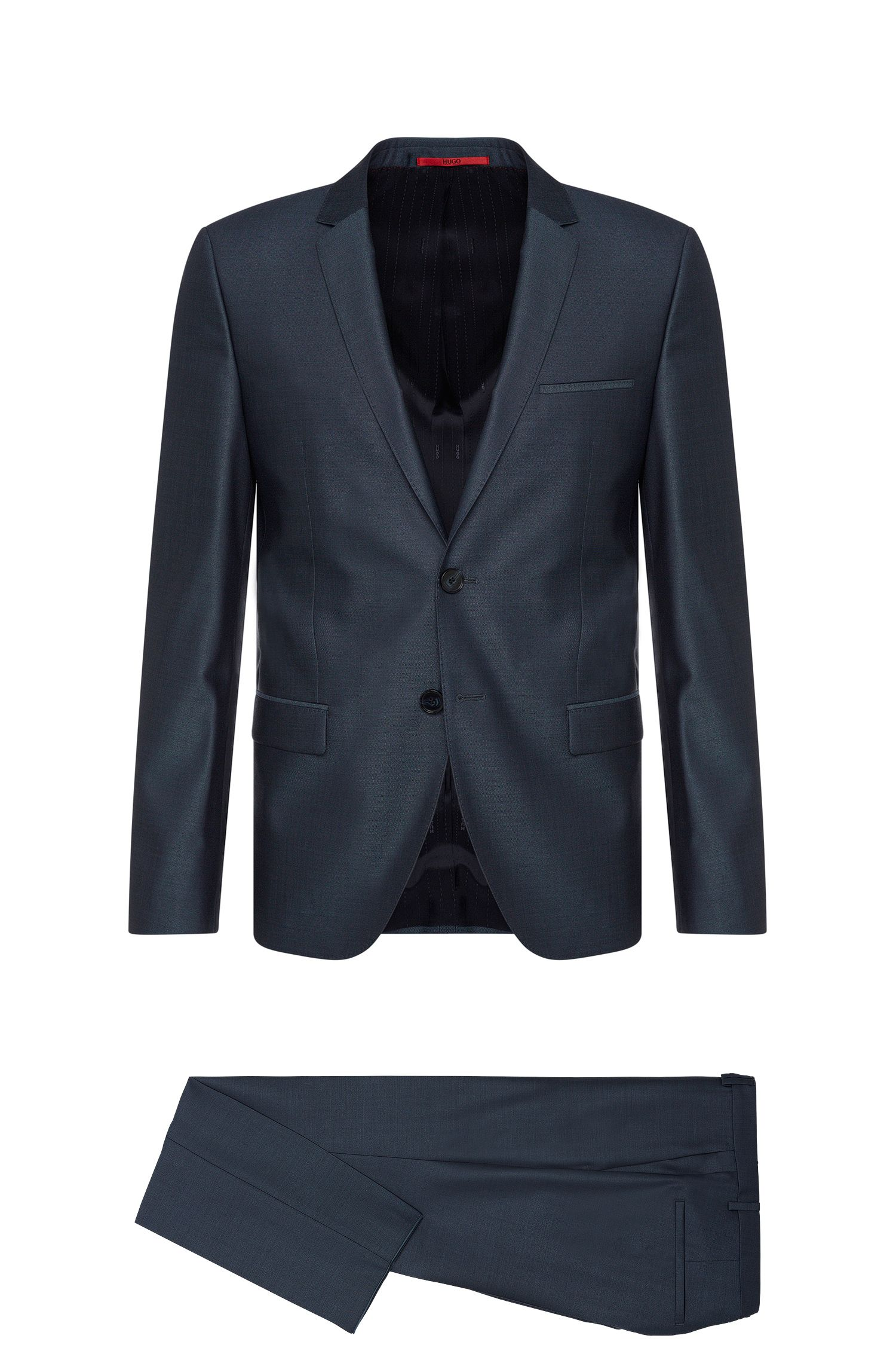 Slim-fit suit in new-wool blend with silk: 'Arti/Heilon'