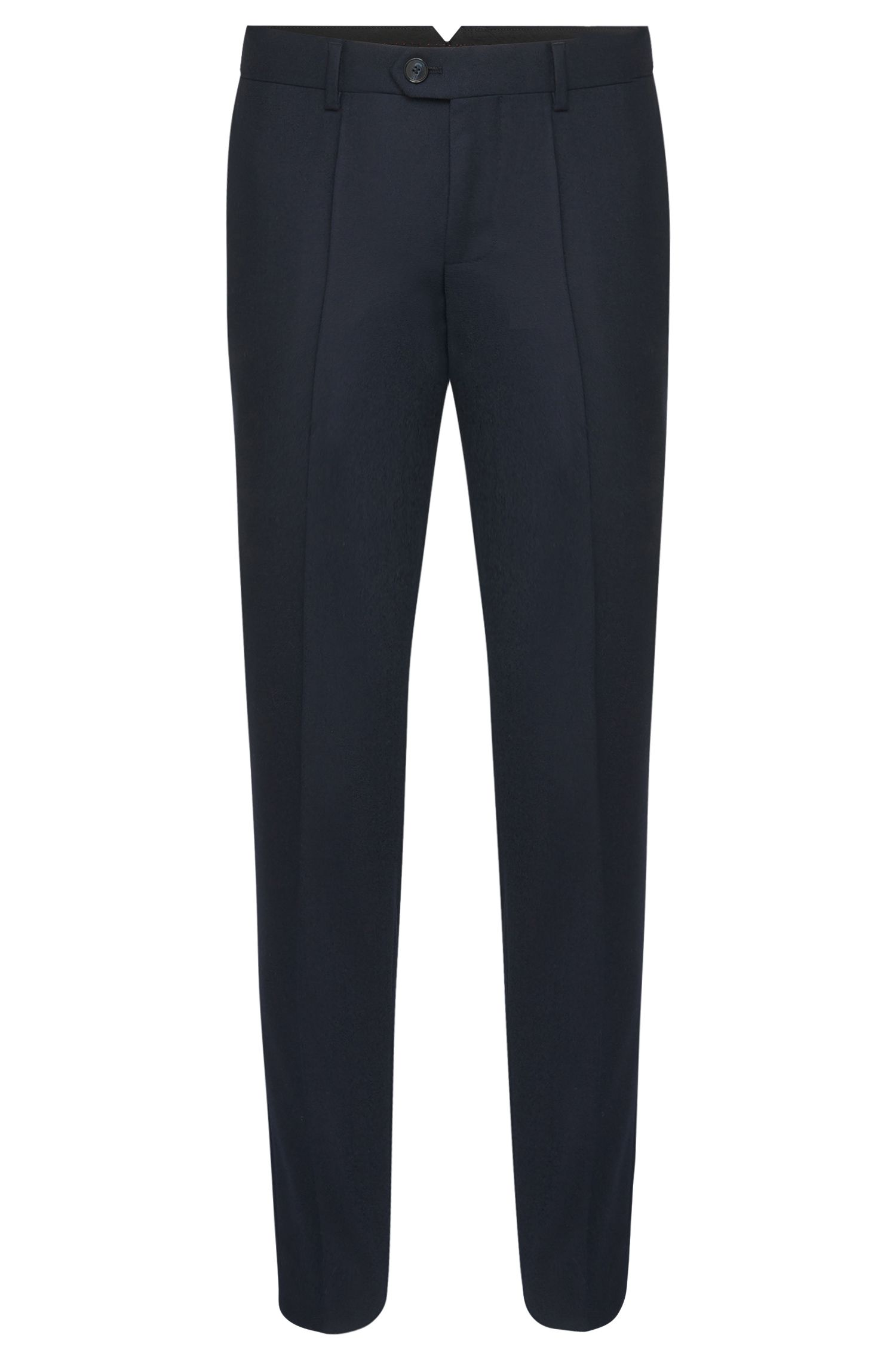 Pantalon Tapered Fit en pure laine vierge finement chinée : « Hening »