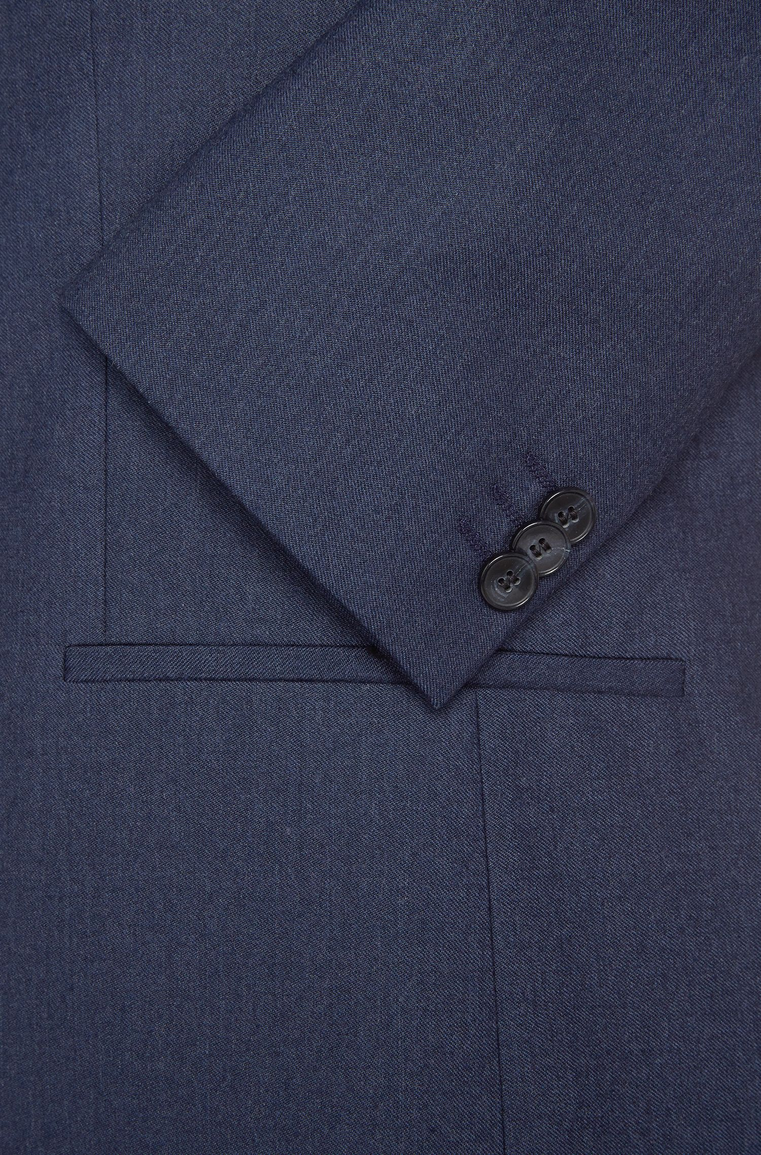 Slim-Fit Anzug aus Schurwolle in Denim-Optik: 'Adan1/Hallins'