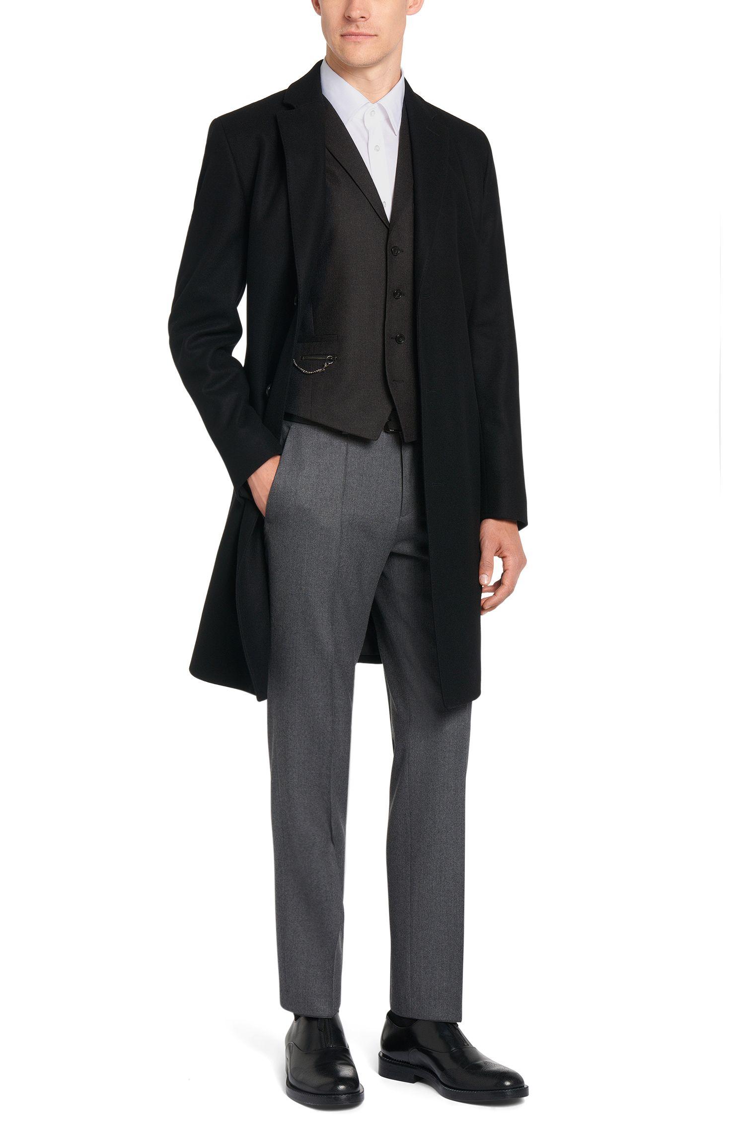 Gilet Slim Fit en laine vierge avec chaînette: «Wyll»