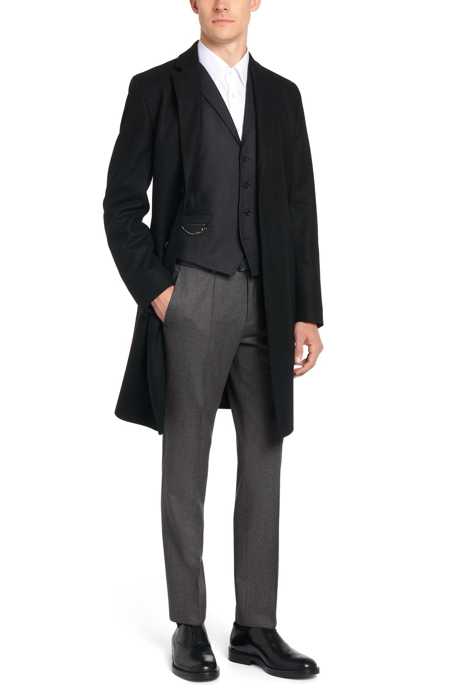 Slim-fit broek van scheerwol: 'C-Genesis'