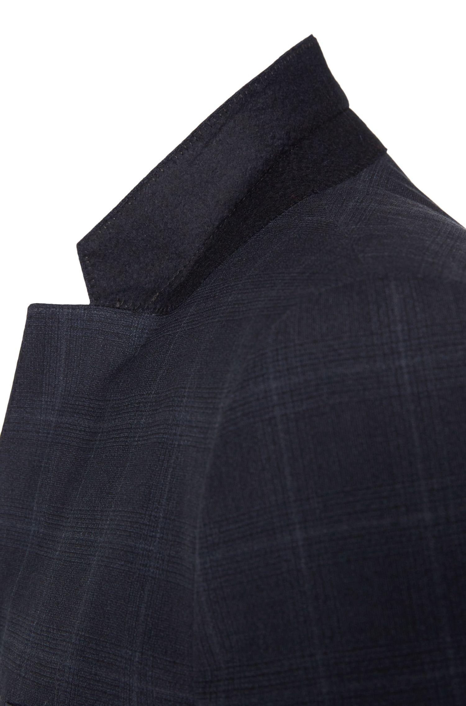 Karierter Slim-Fit Anzug aus Stretch-Schurwolle: 'Arti/Heilon'