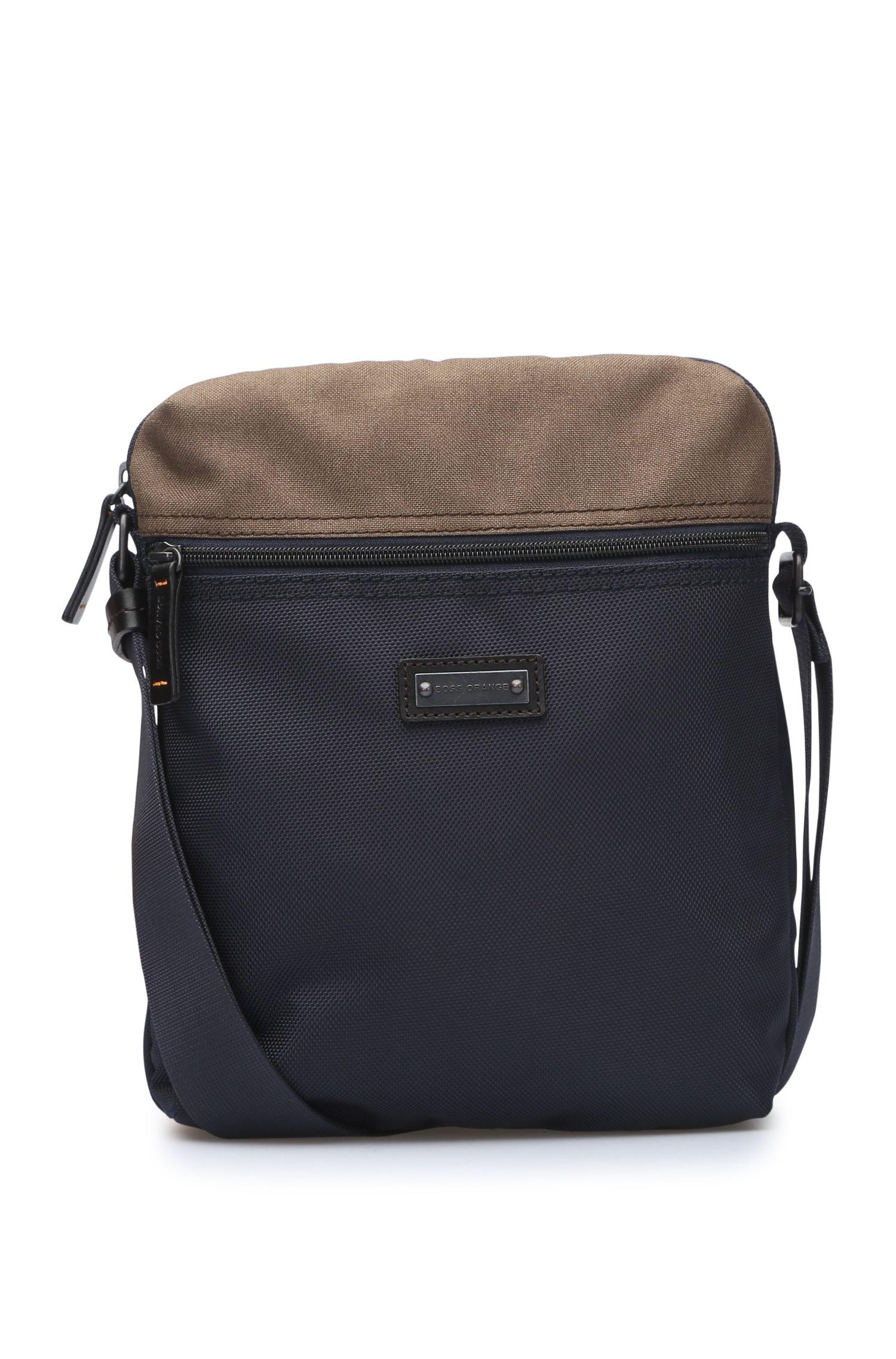 Reporter-Tasche aus strukturiertem Nylon: ´Saturn_NS zip`