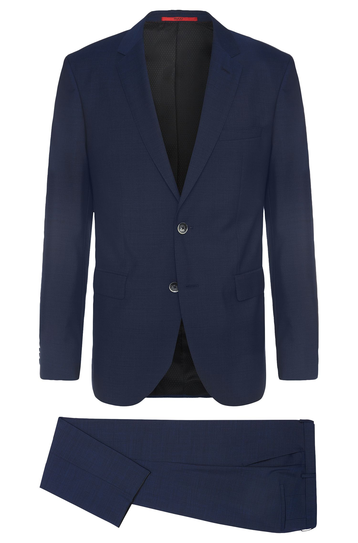 Regular-fit suit in pure new wool: 'C-Jeys1/C-Shaft1'