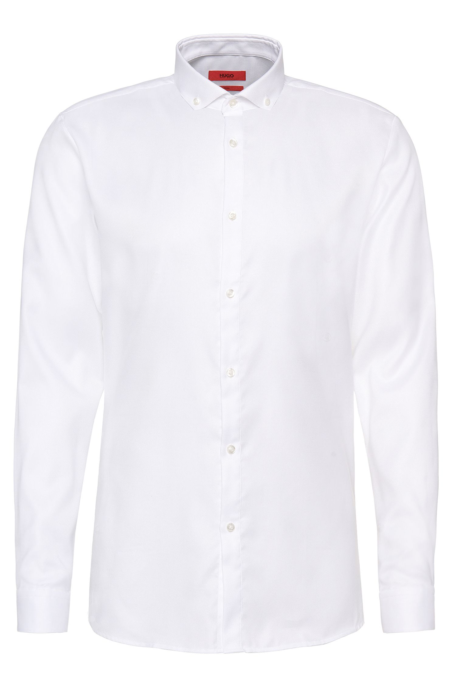 Chemise Slim Fit en coton finement structuré, facile à repasser : « Enes »