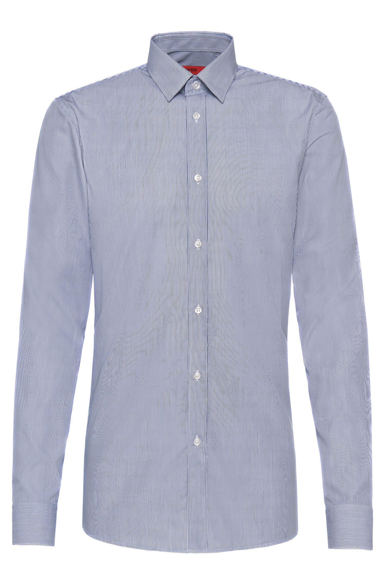 Camicia slim fit a righe in cotone stiro facile: 'Elisha01'