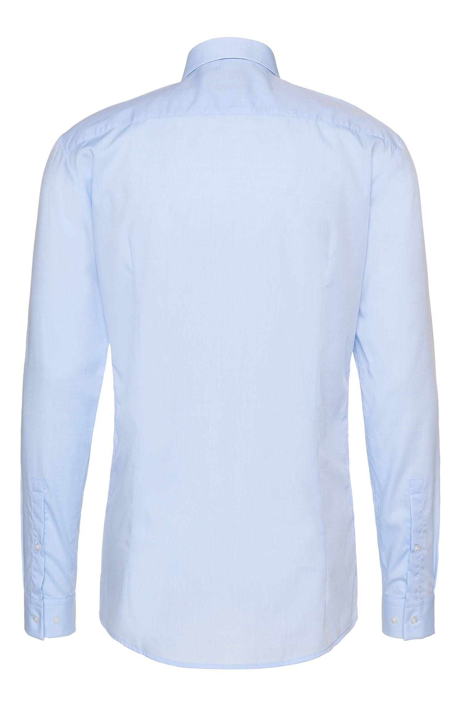 Slim-Fit Hemd aus bügelleichter Baumwolle mit verdeckter Knopfleiste: 'Enns'